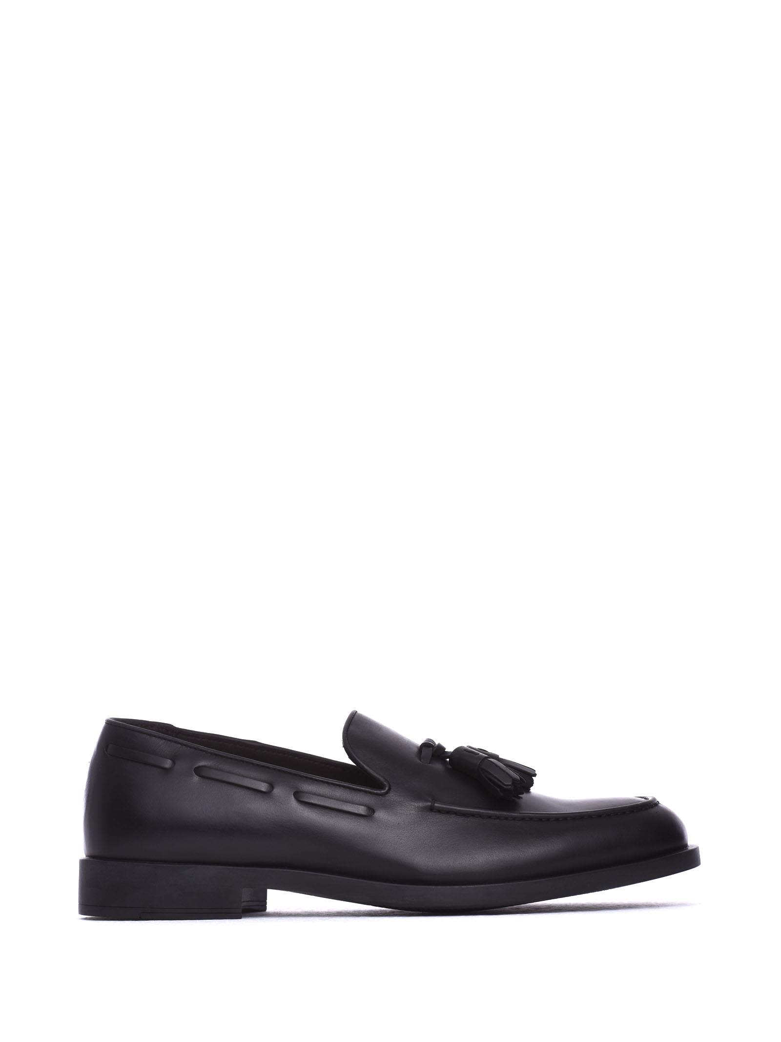 FRATELLI ROSSETTI ONE Black Leather Loafer in Nero