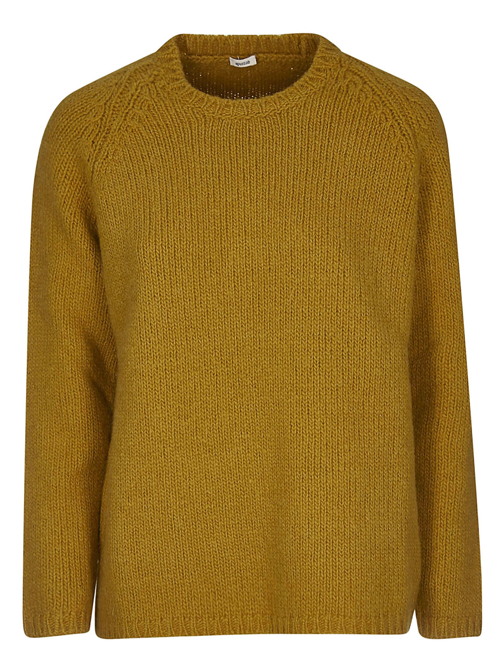 A PUNTO B A.B Knitted Sweater in Honey