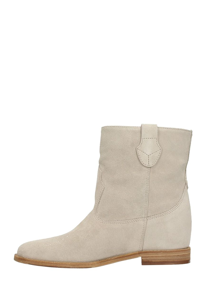 Julie Dee Wedge Sand Suede Boots Great Deals Online For Nice Sale Online SxwDch7N