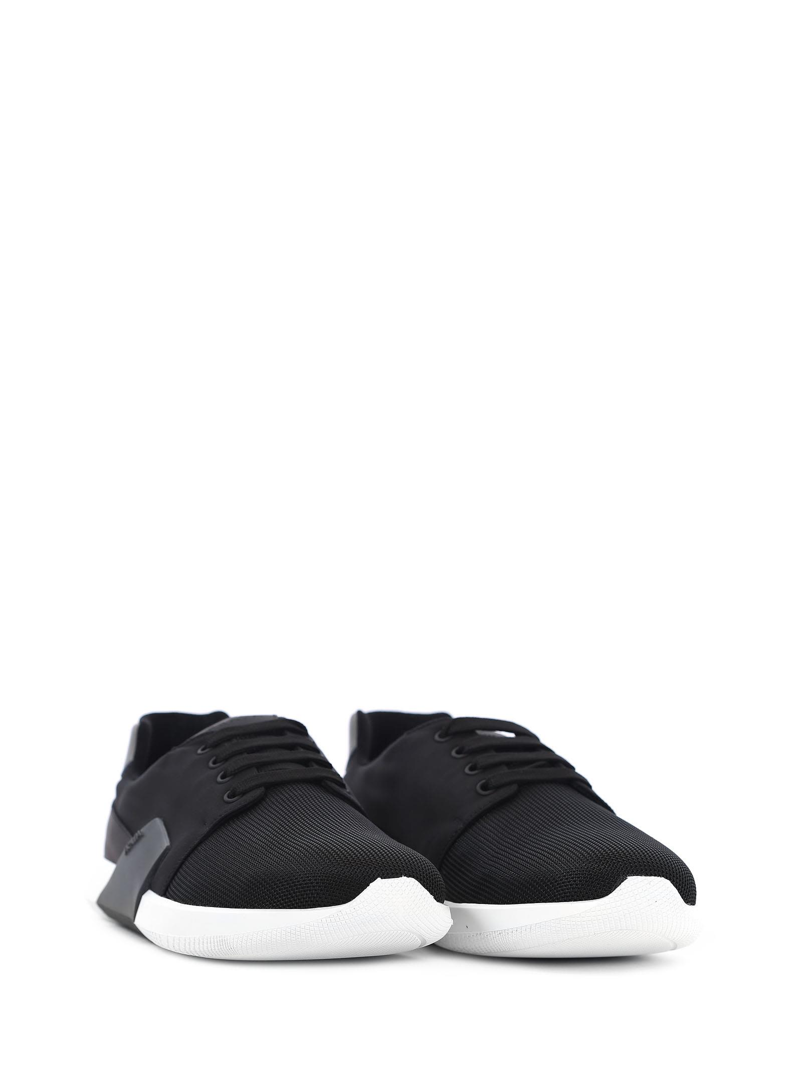 With Mastercard Online Buy Cheap Largest Supplier Prada Leather & Canvas Sneakers Amazon Cheap Price Orange 100% Original KtAN67Uw5e