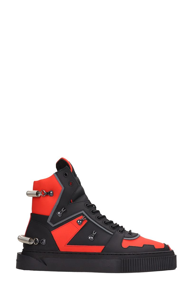 GIENCHI Hypnos 3.0 Black And Red Sneakers