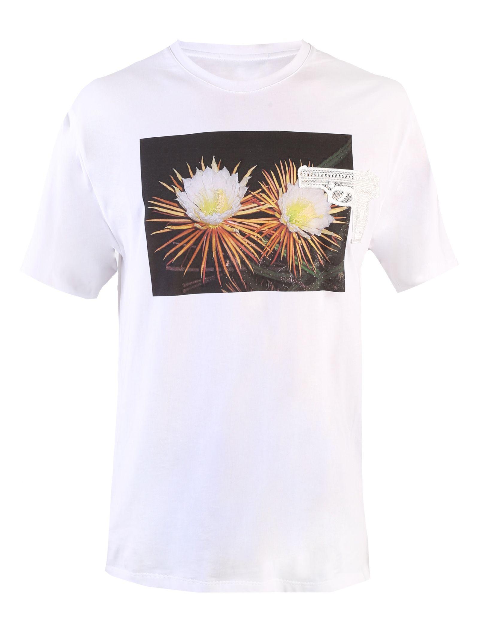 White Photographic Print T-shirt