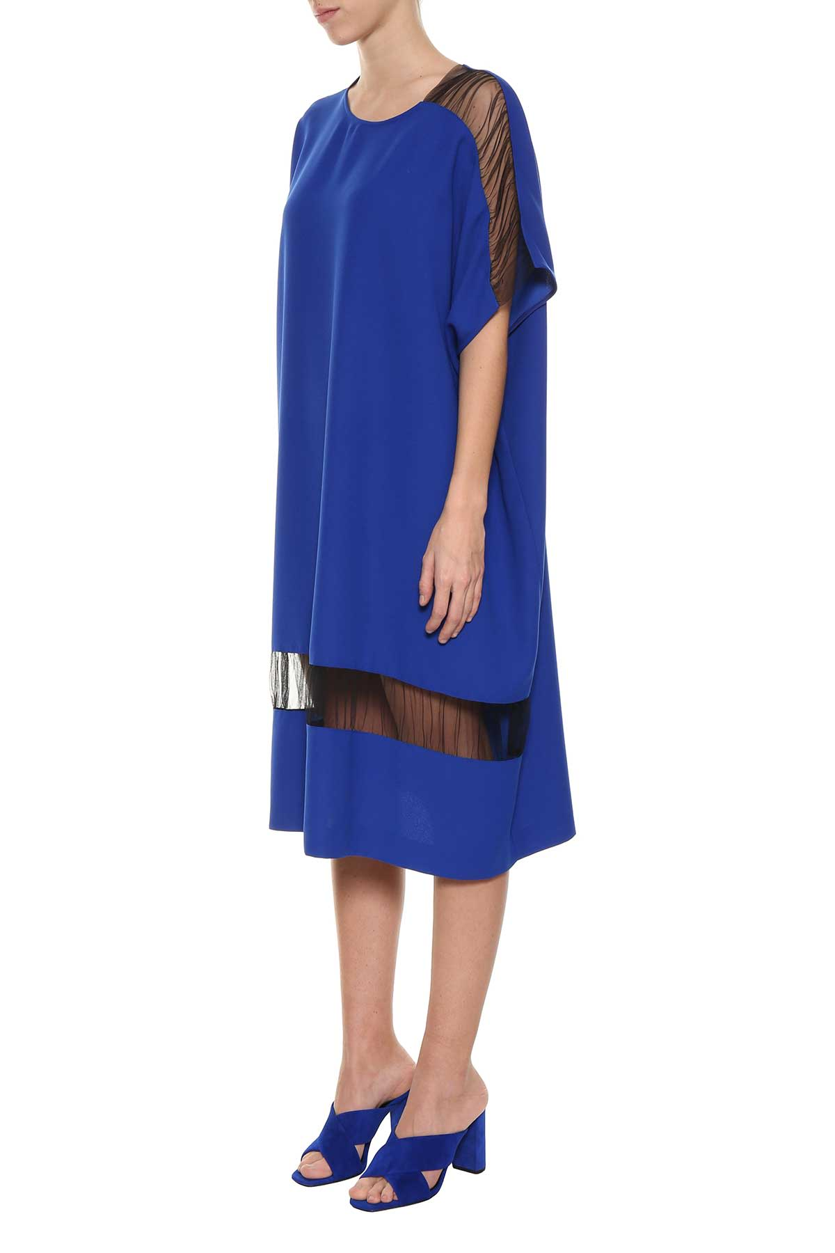 Maison Margiela Oversized Mesh Panel Dress ...