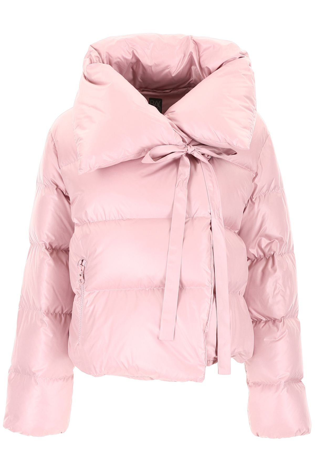BACON CLOTHING Puffer Jacket With Bow in Antic Pink