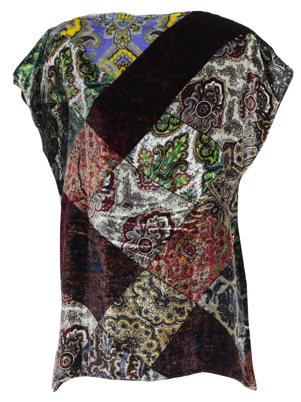 Pierre Louis Mascia' Multiple Paisley Print Top, Multicolor