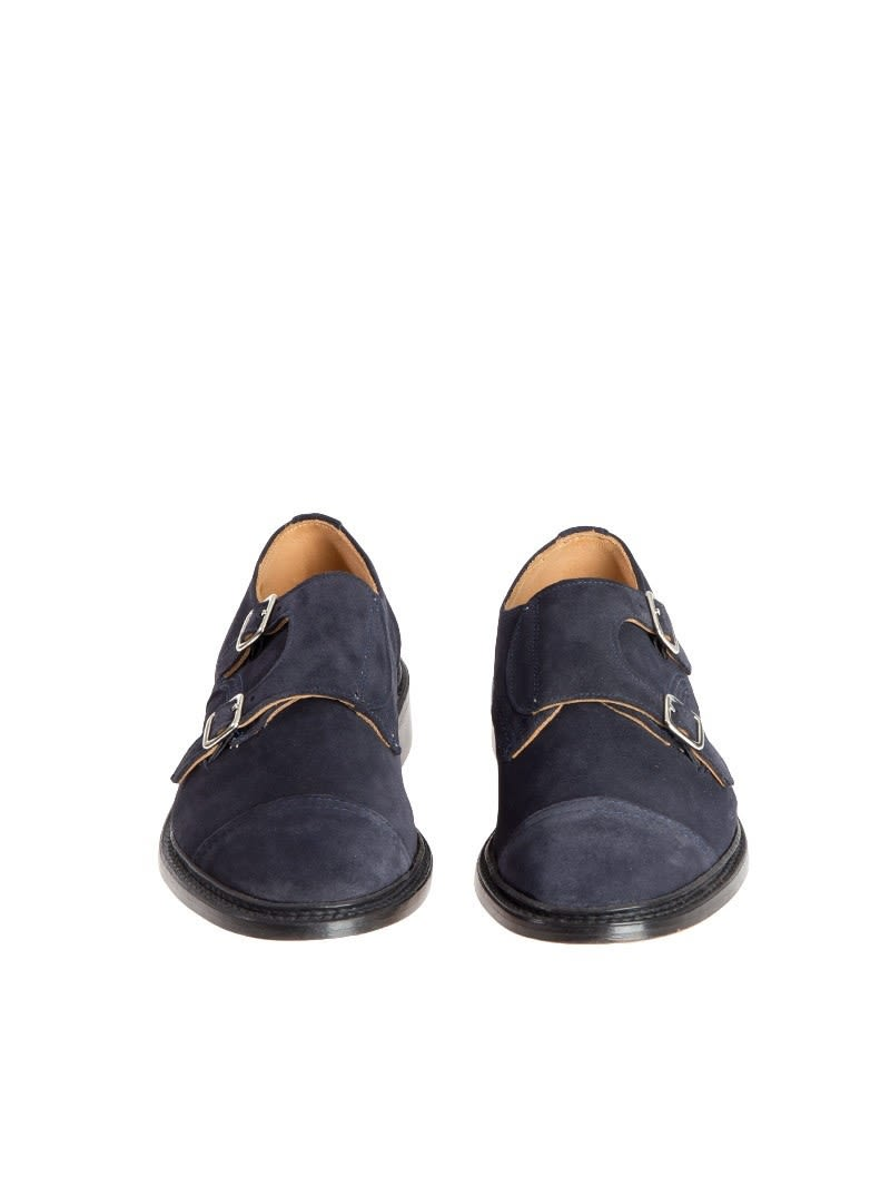 Tricker's Men's Blue Suede Monk... pre order sale online free shipping lowest price free shipping latest collections cheap sale real WOYYO2y4Oo