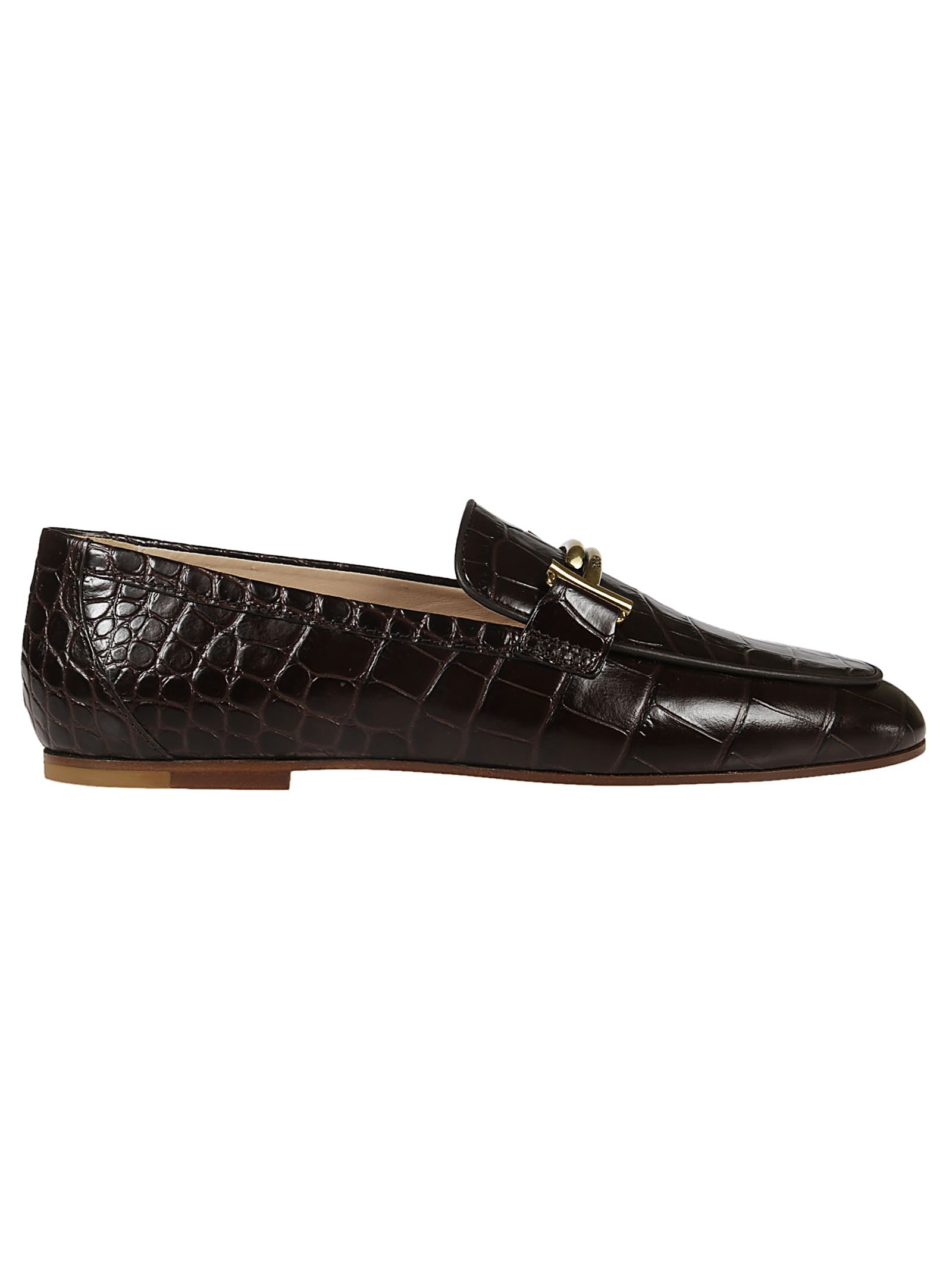 CROC-EFFECT LOAFERS