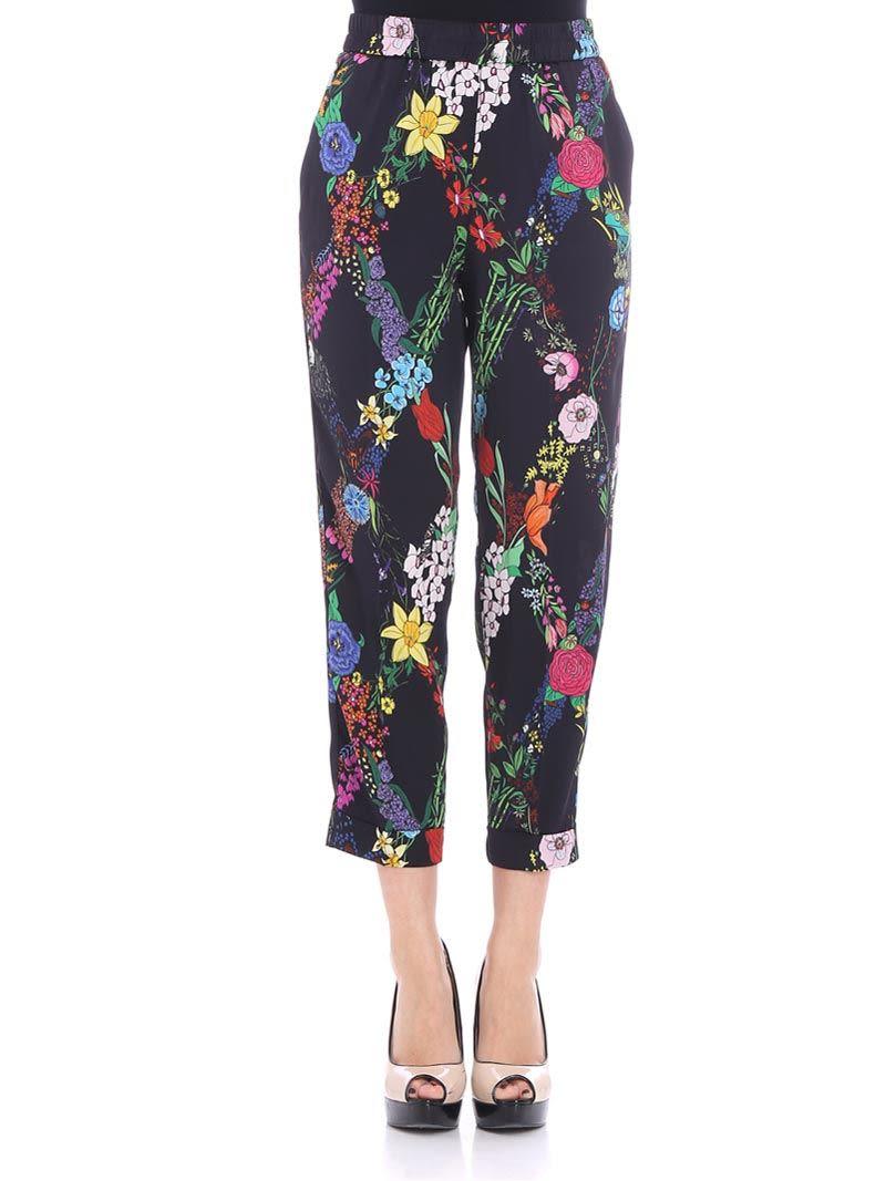 Black floral trousers Ballantyne klZGi1Jz