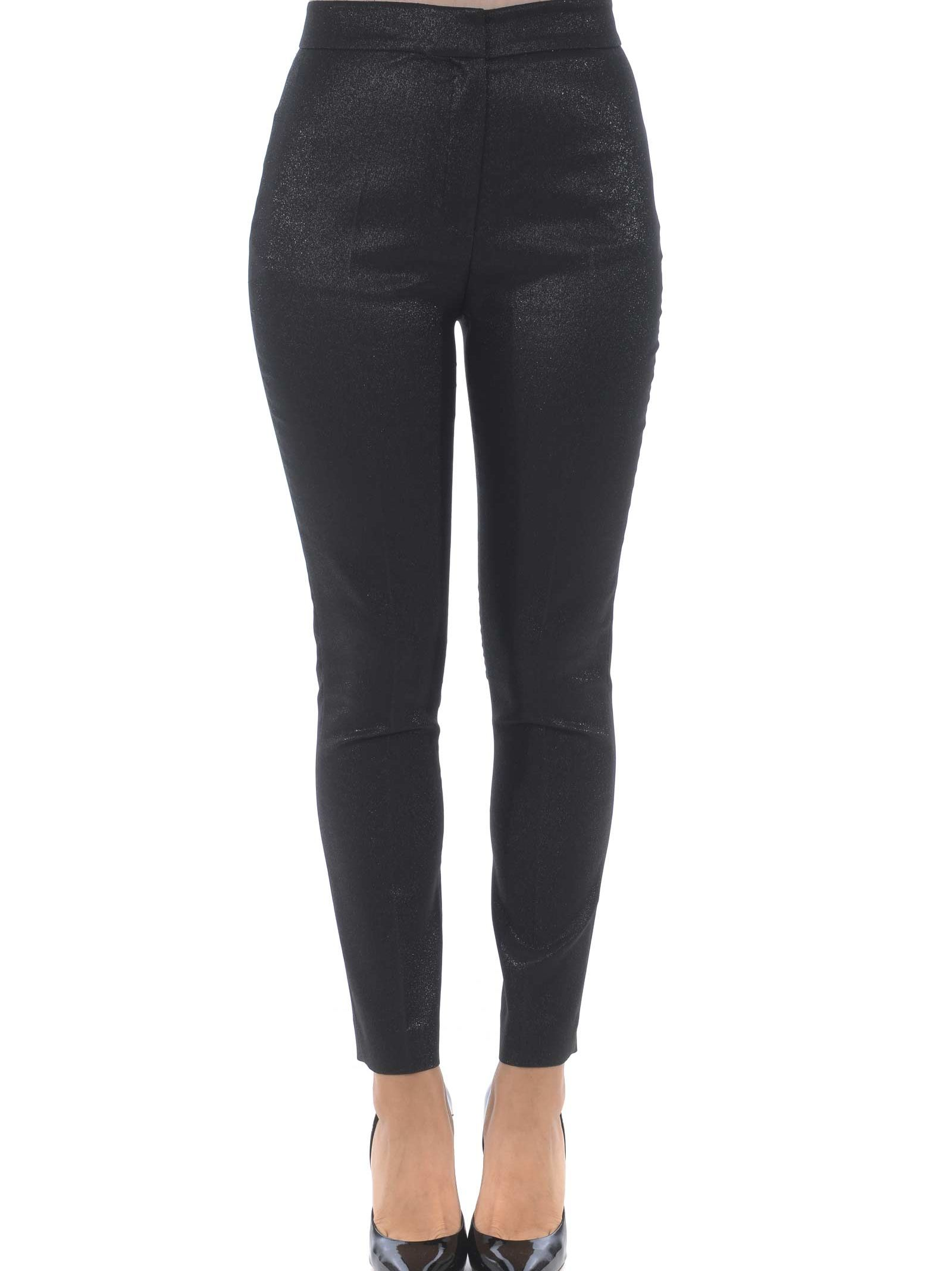 TRUE ROYAL Fitted Trousers in Nero