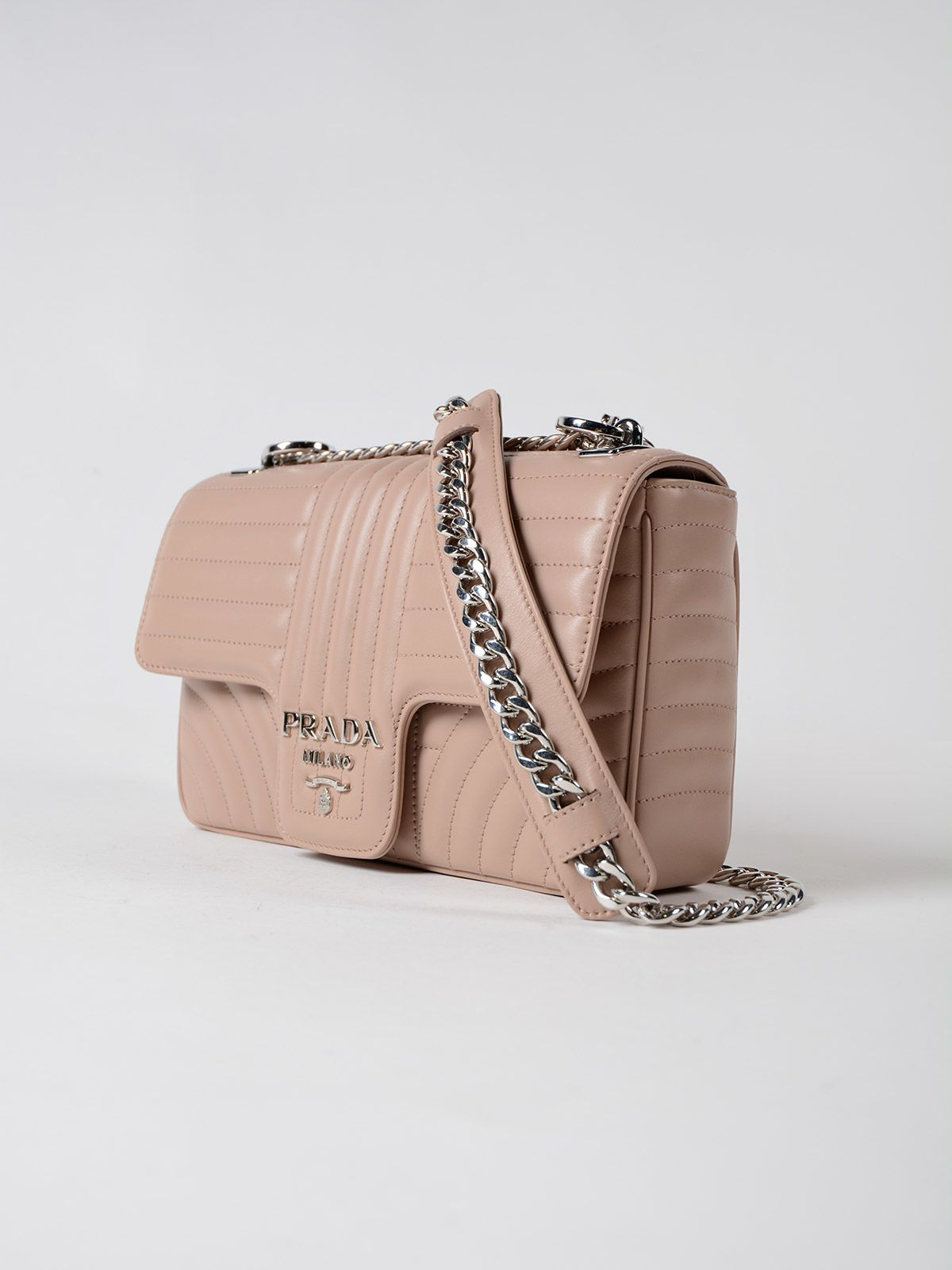 Tote - Diagramme Tote Calfskin Leather Cipria - beige - Tote for ladies Prada yM3ppyXh