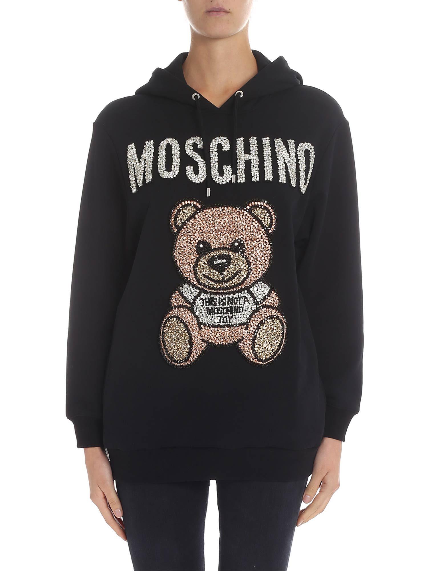 moschino -  Embellished Teddy Hoodie