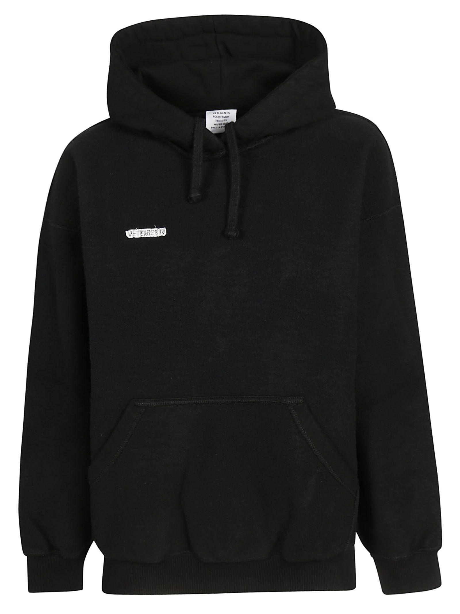 VETEMENTS Inside-Out Hoodie in Black