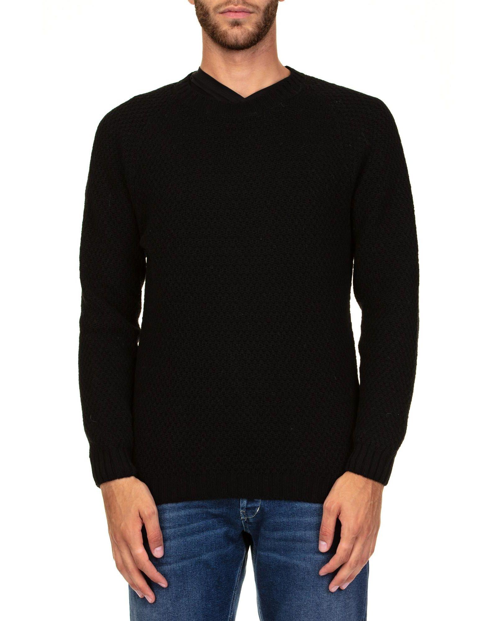 DANIELE FIESOLI Baby Alpaca And Merino Wool Sweater in Black