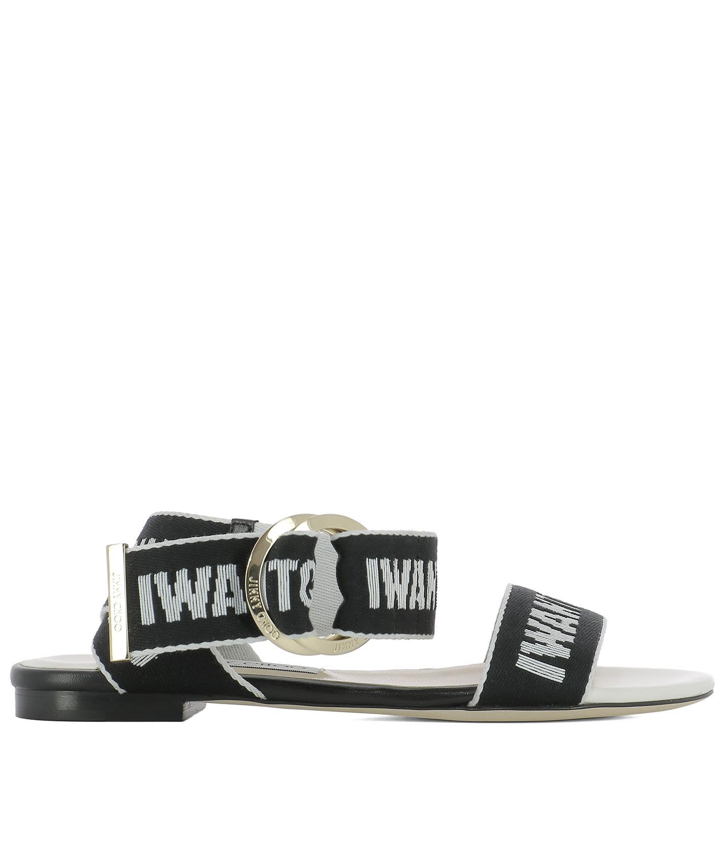 a6fe2b063998 Jimmy Choo Breanne Flat Sandals In Black