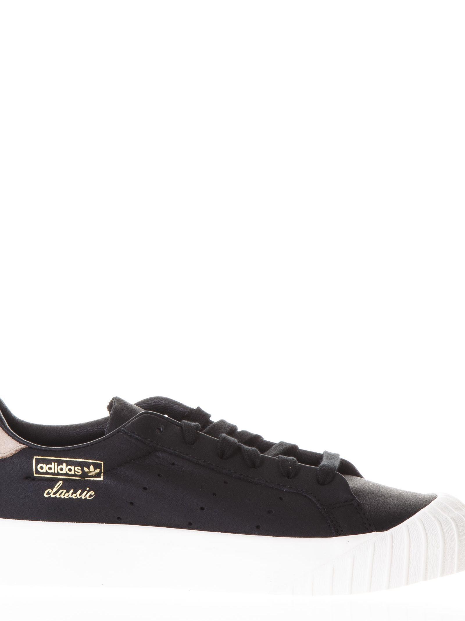 Adidas Originals Black Everyn Sneakers In Leather
