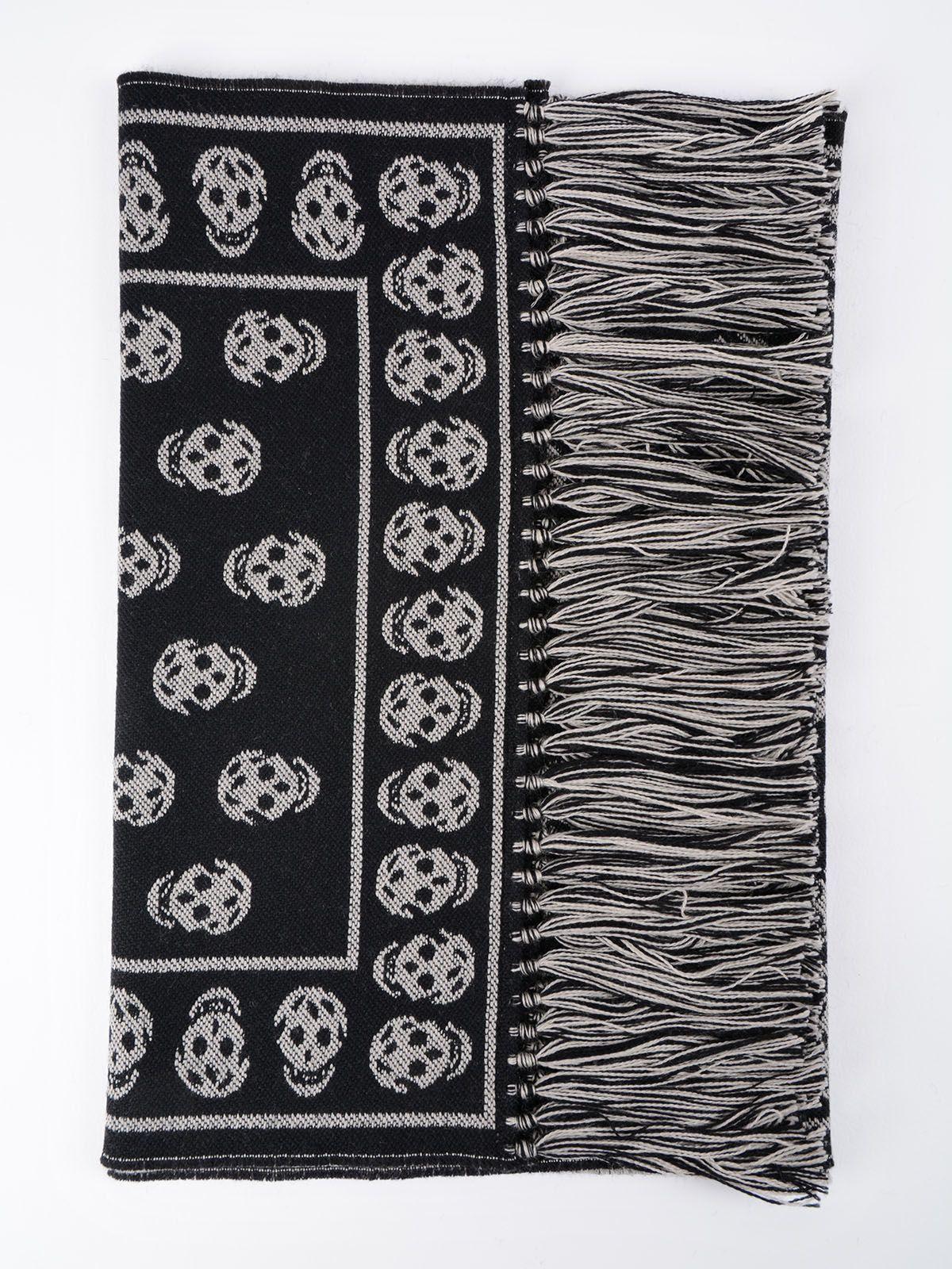 Alexander McQueen Skull Knit Scarf 6793969