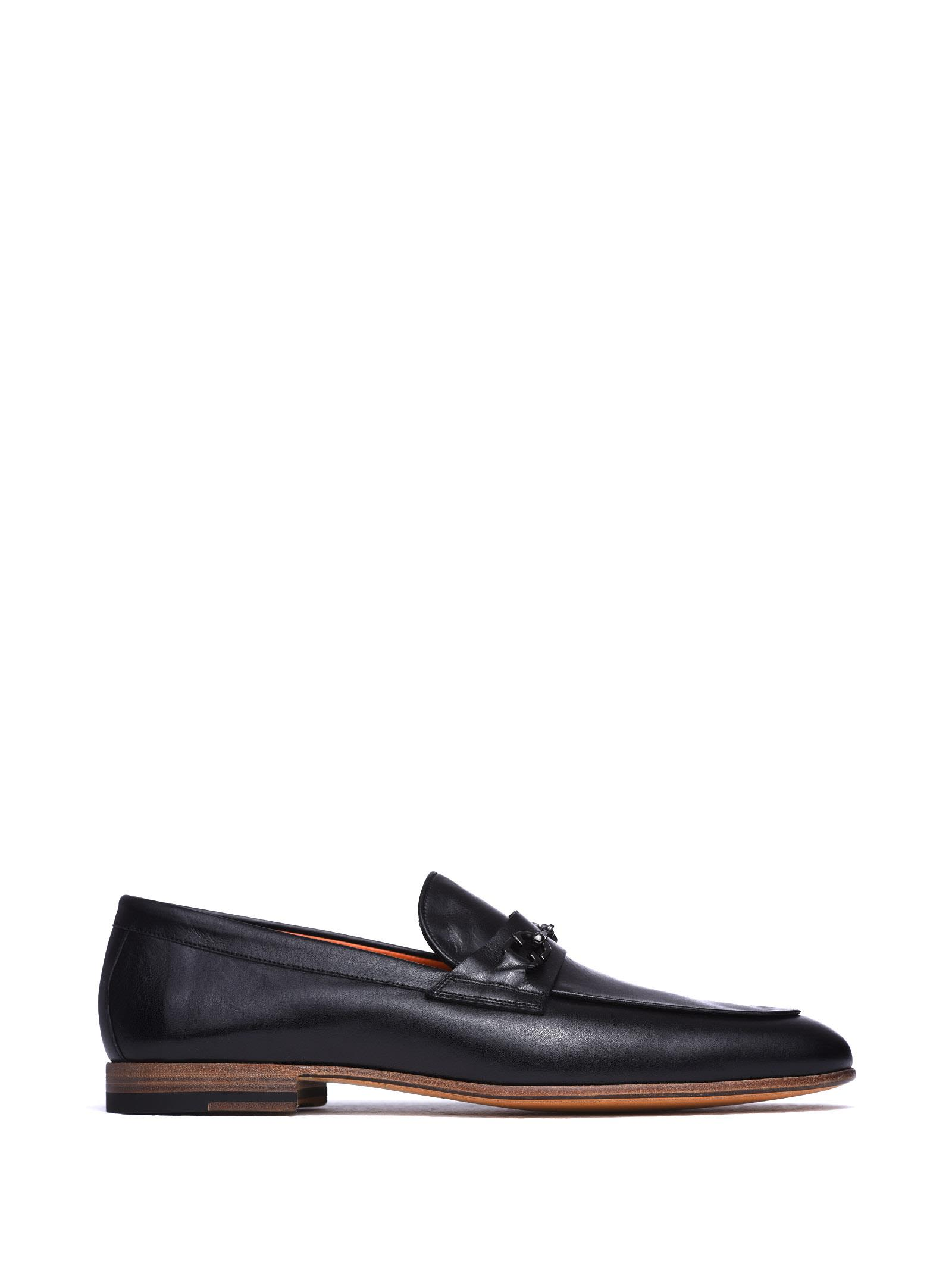 Loafers with metal clamp Santoni PMIUMRXM