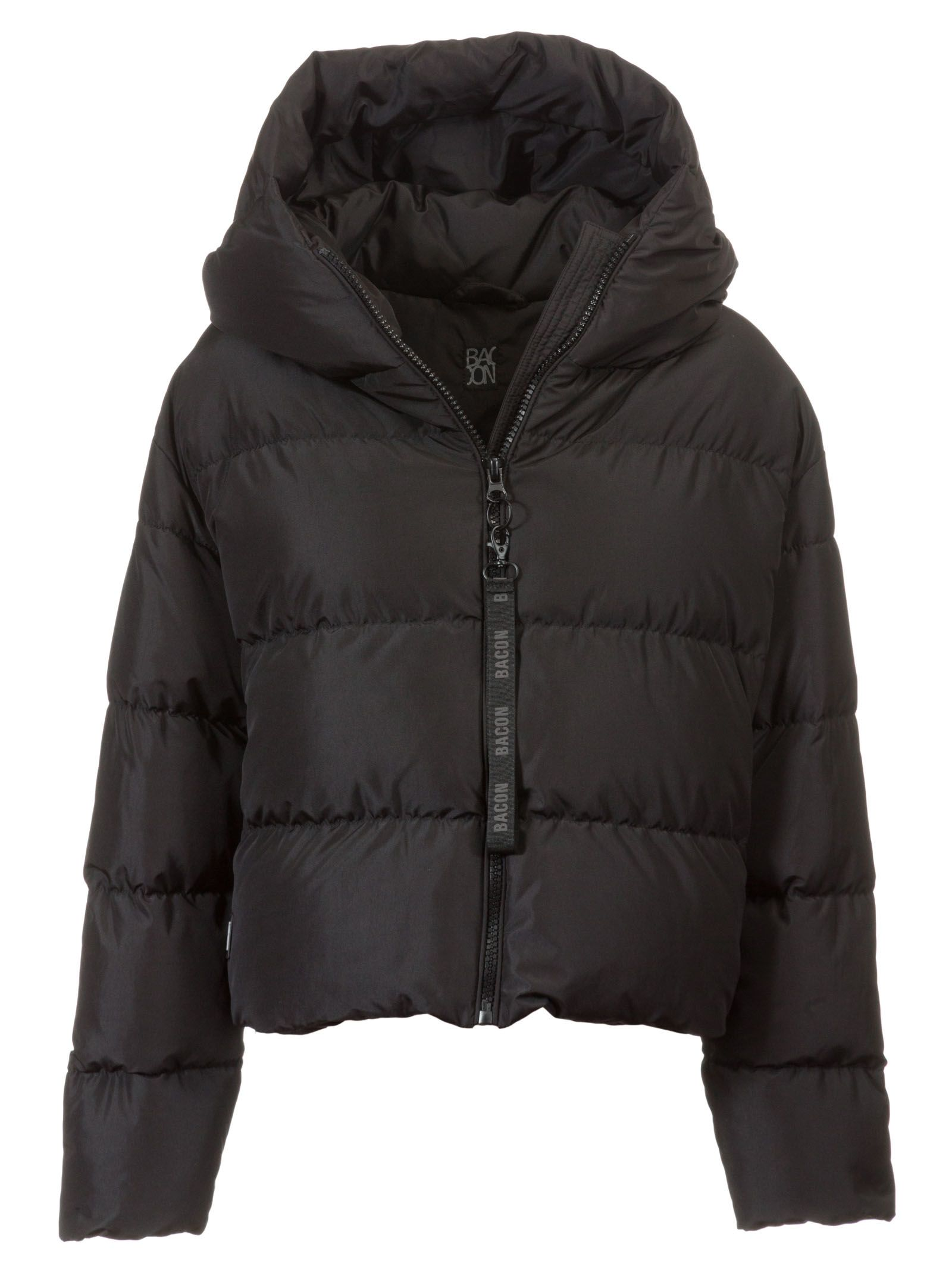BACON CLOTHING Bacon Cloud Hood Padded Jacket in Black