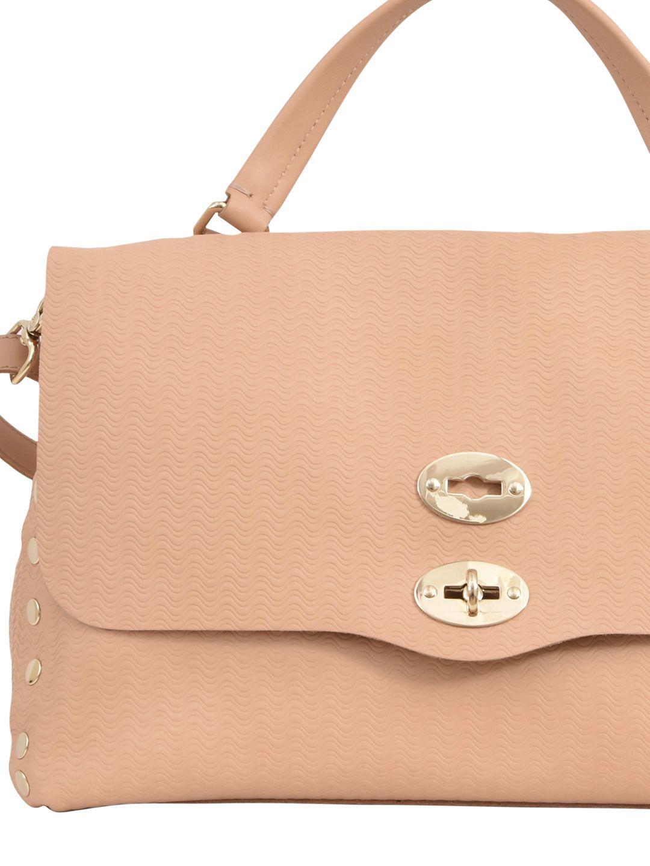 Top Handle Handbag On Sale, Postina M, Nude, Leather, 2017, one size Zanellato