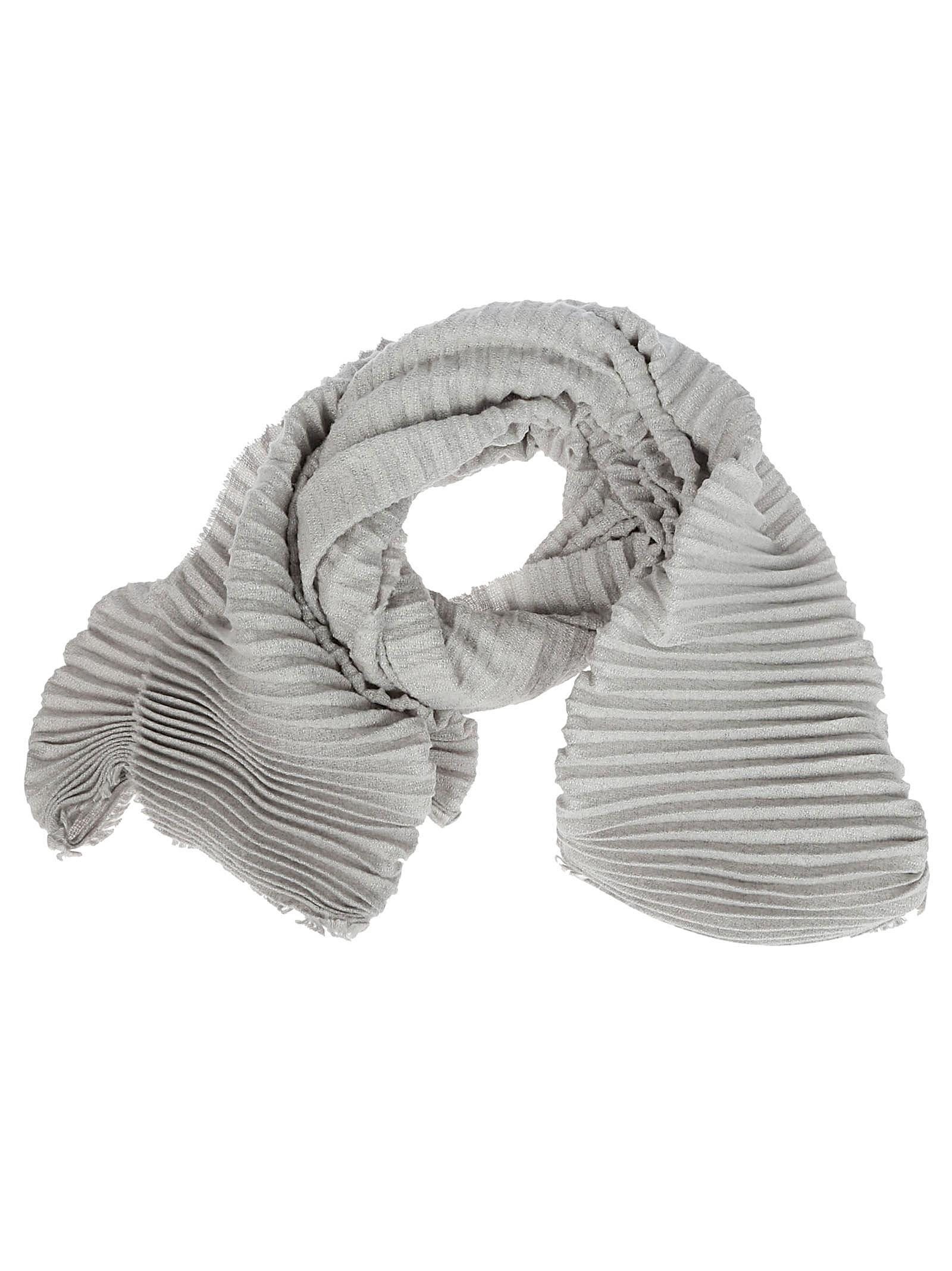 DESTIN SURL Destin Ribbed Detail Scarf in Grey