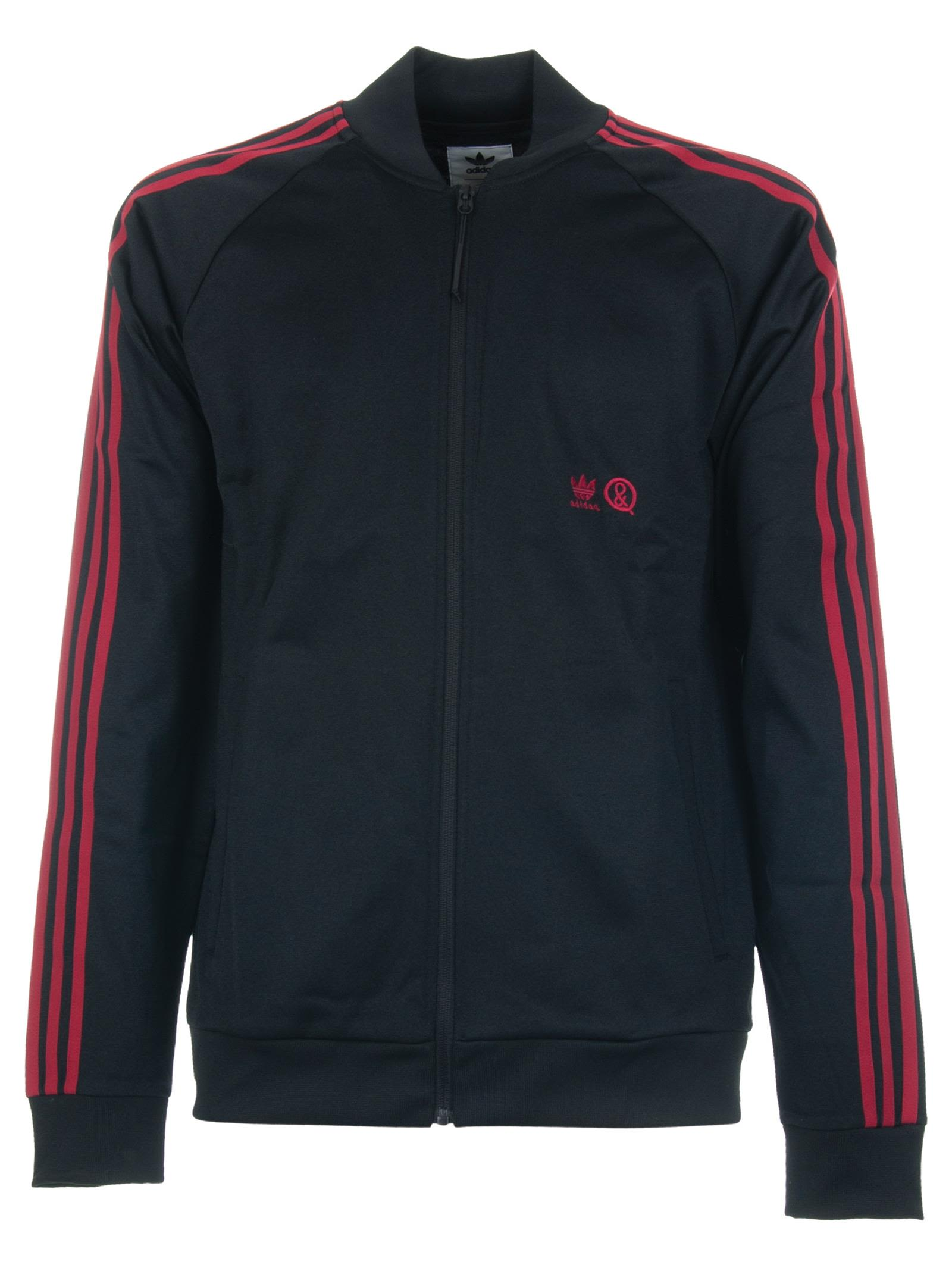 ADIDAS ORIGINALS BY UNITED ARROWS & SONS Adidas X United Arrows & Sons Track Jacket in Nero/Rosso