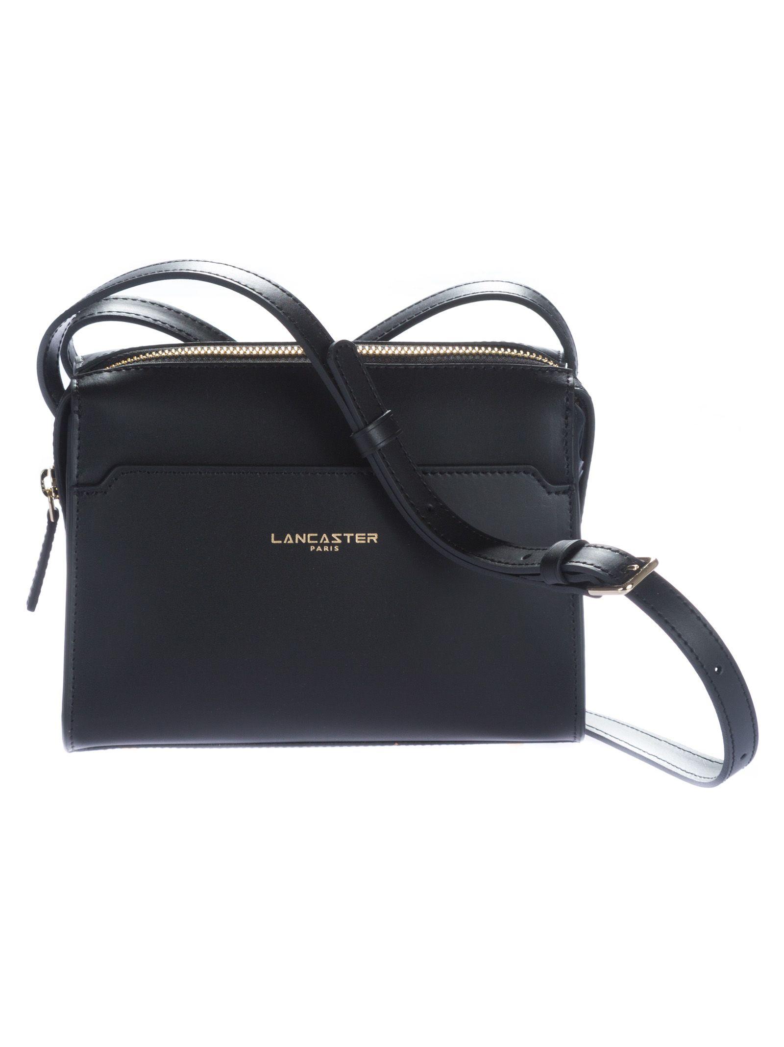 Shoulder Bag for Women, Black, Leather, 2017, one size Lancaster
