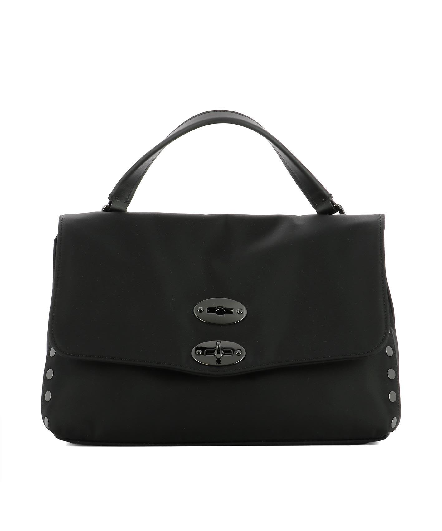 Top Handle Handbag On Sale, Postina M, Black, Leather, 2017, one size Zanellato