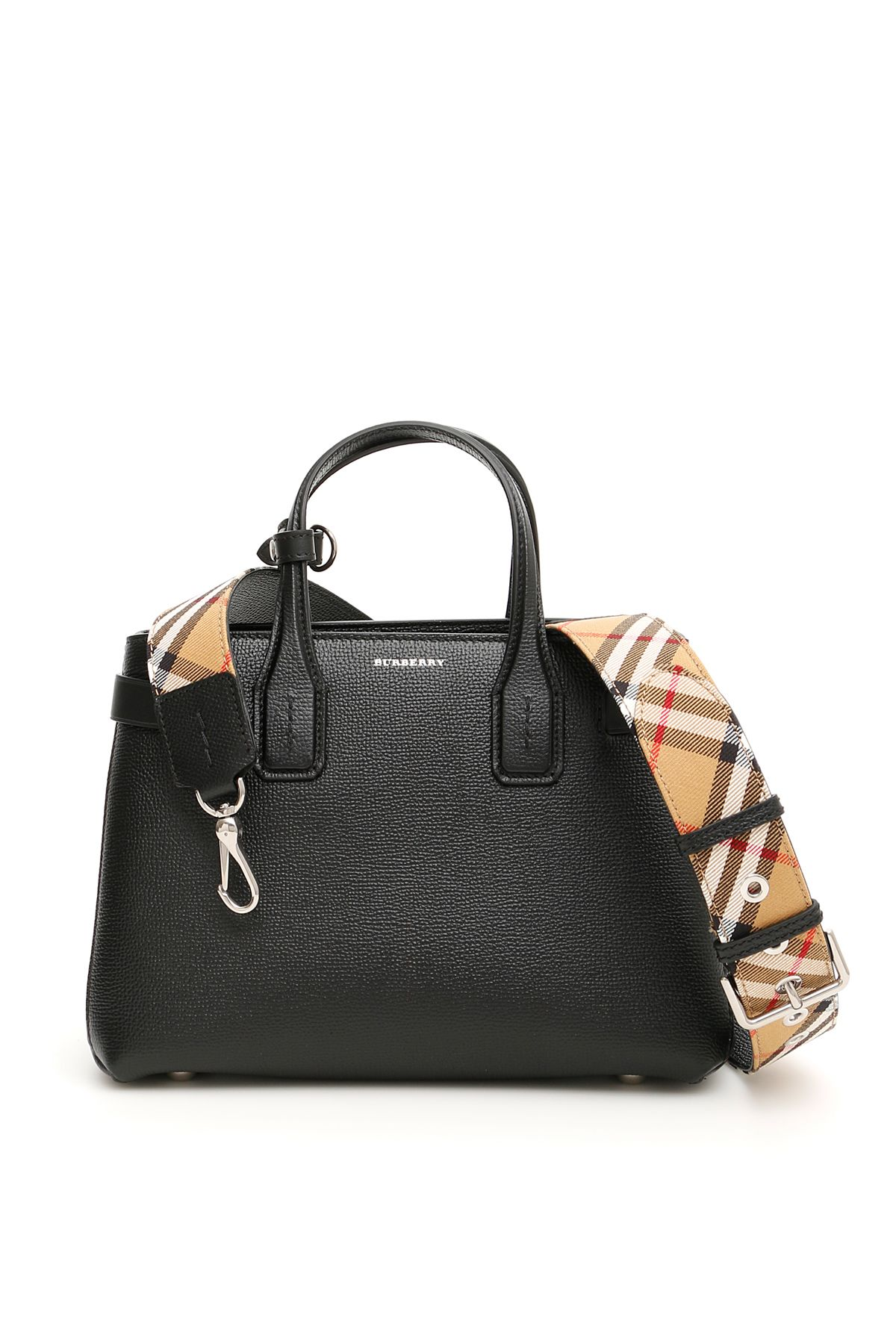 01ae3e9c798a Burberry Small Banner Bag In Black