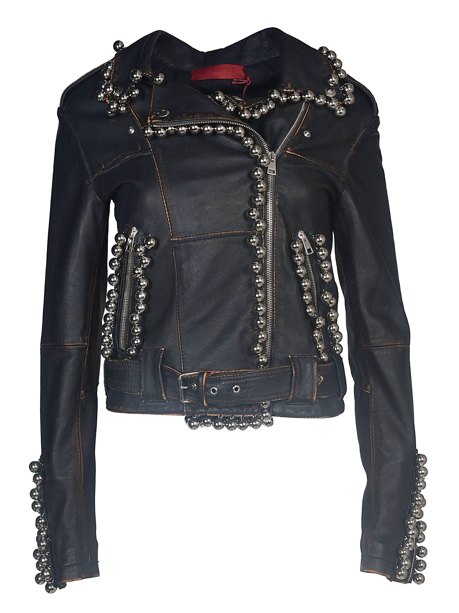 sphere embellished biker jakcet - Black Di Liborio Outlet For Cheap Comfortable Free Shipping 2018 Unisex Free Shipping Prices yLVFkD