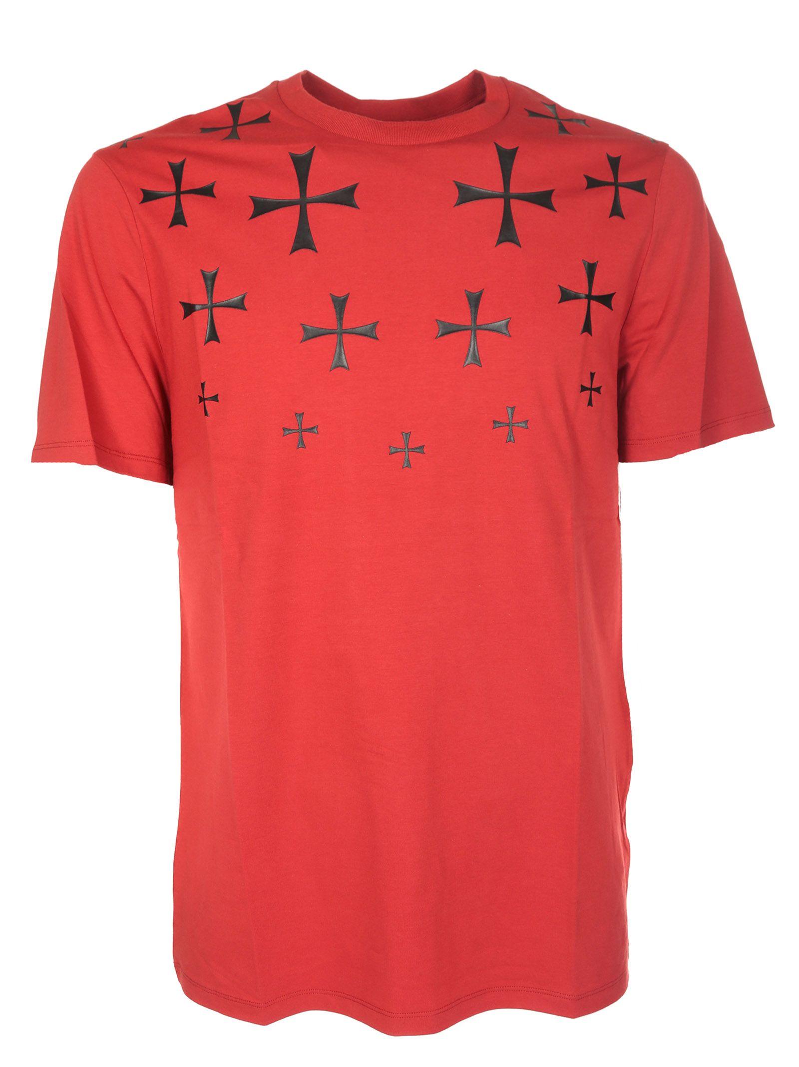 Neil Barrett Maltese Cross Print T-shirt