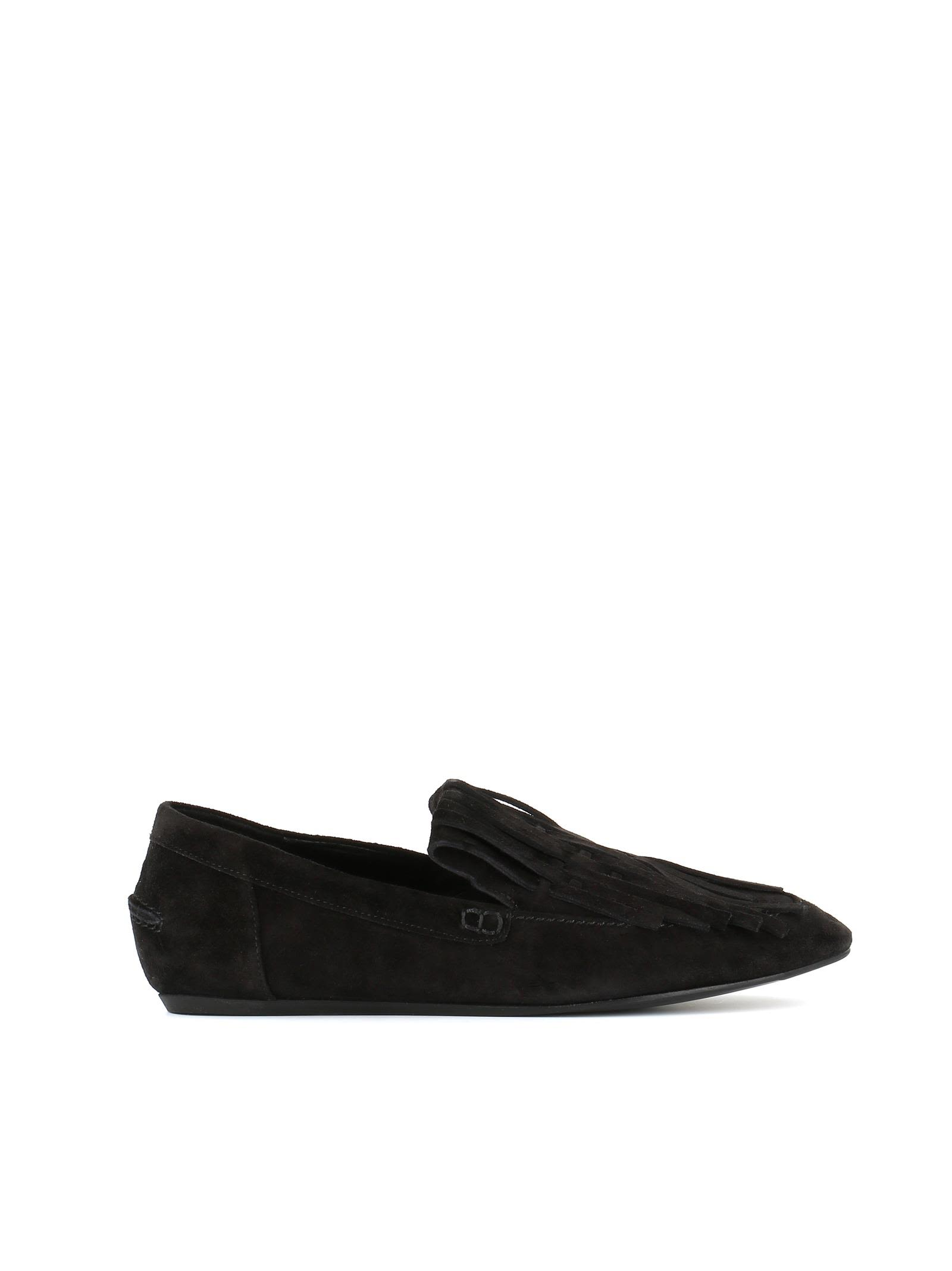 Fringed Loafer, Black