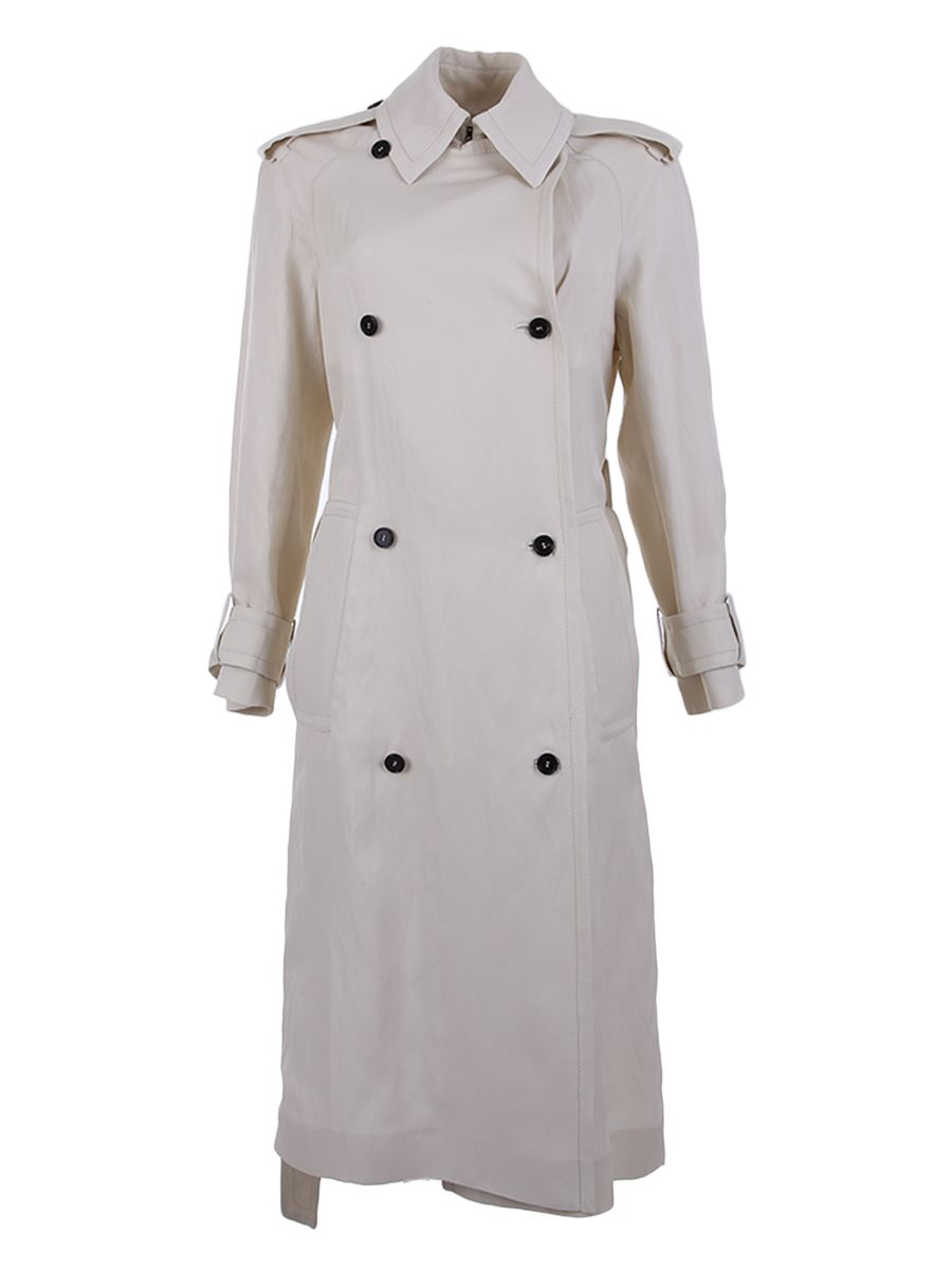 Viscose And Linen Trench Coat 10332962