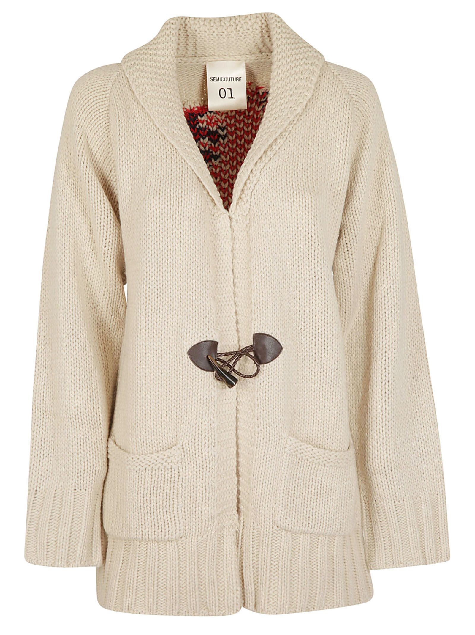 Semicouture Ribbed Cardigan