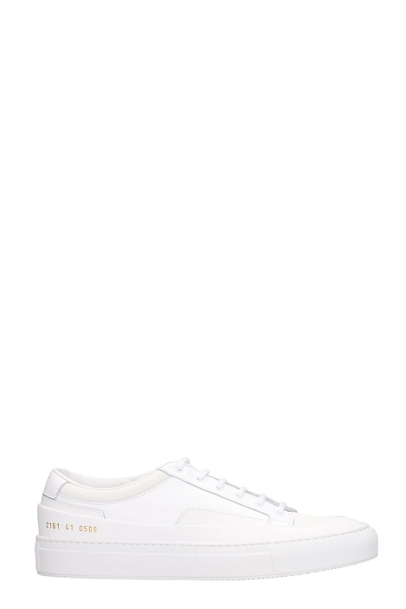 Common Projects Achilles Super Sneakers In White Leather
