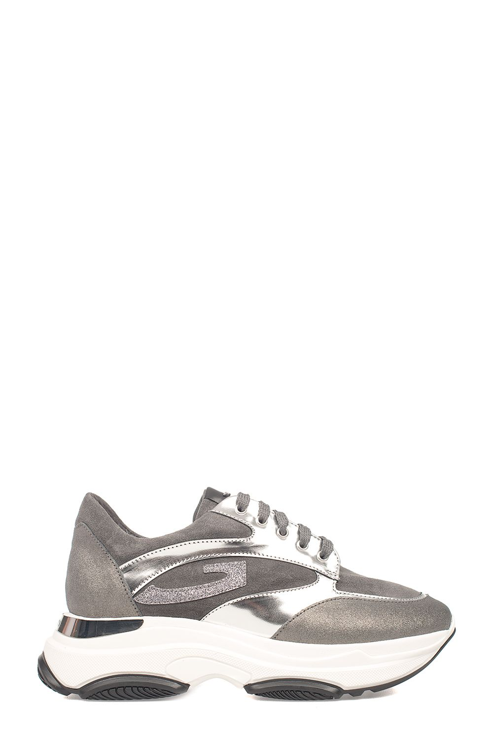 ALBERTO GUARDIANI Gray Suede Sport Lady Vague Sneakers