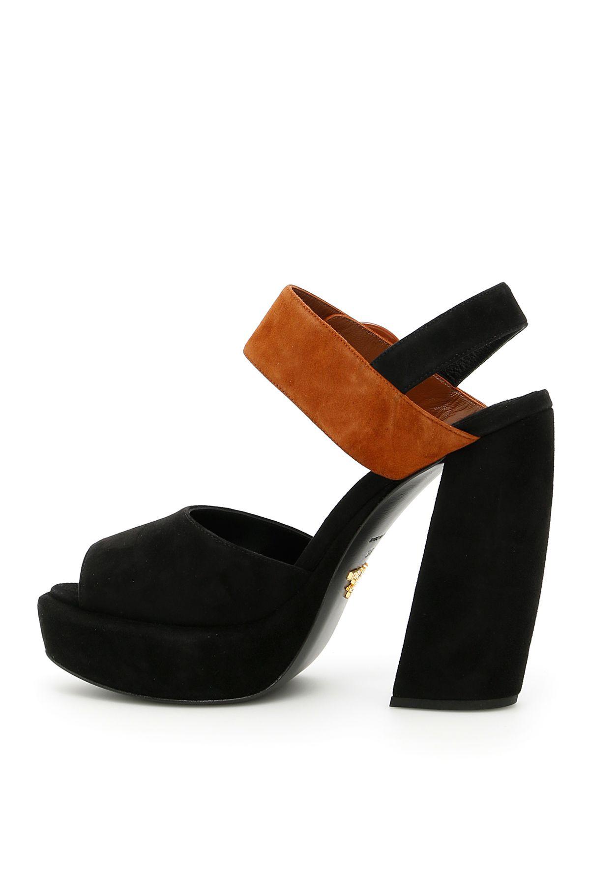 Prada Bicolor Suede Sandals Exclusive Cheap Price Discount Very Cheap Sale Pre Order Clearance Latest WXp9FfHvBl