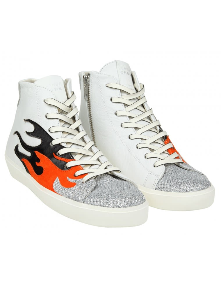 White flames sneakers Leather Crown 6AxVfngM
