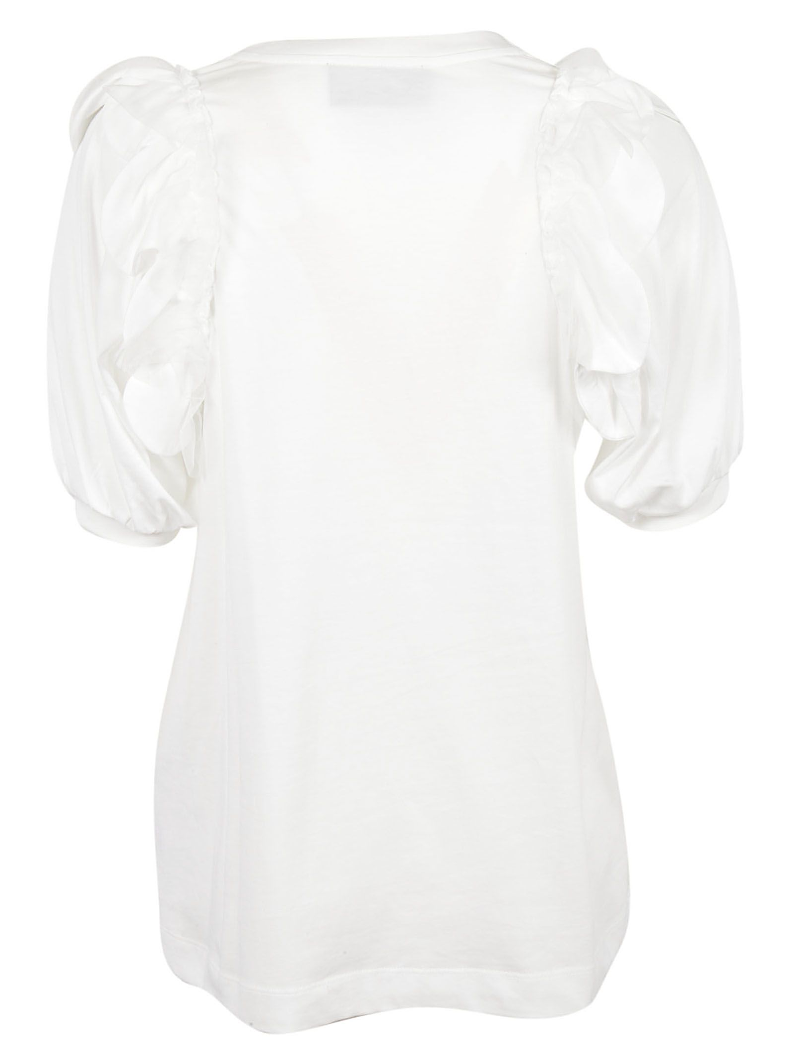 Professional Cheap Online White Beaded Puff Sleeve T-Shirt Simone Rocha Sale Real 2018 Discount  Outlet Best Wholesale pvO41aU