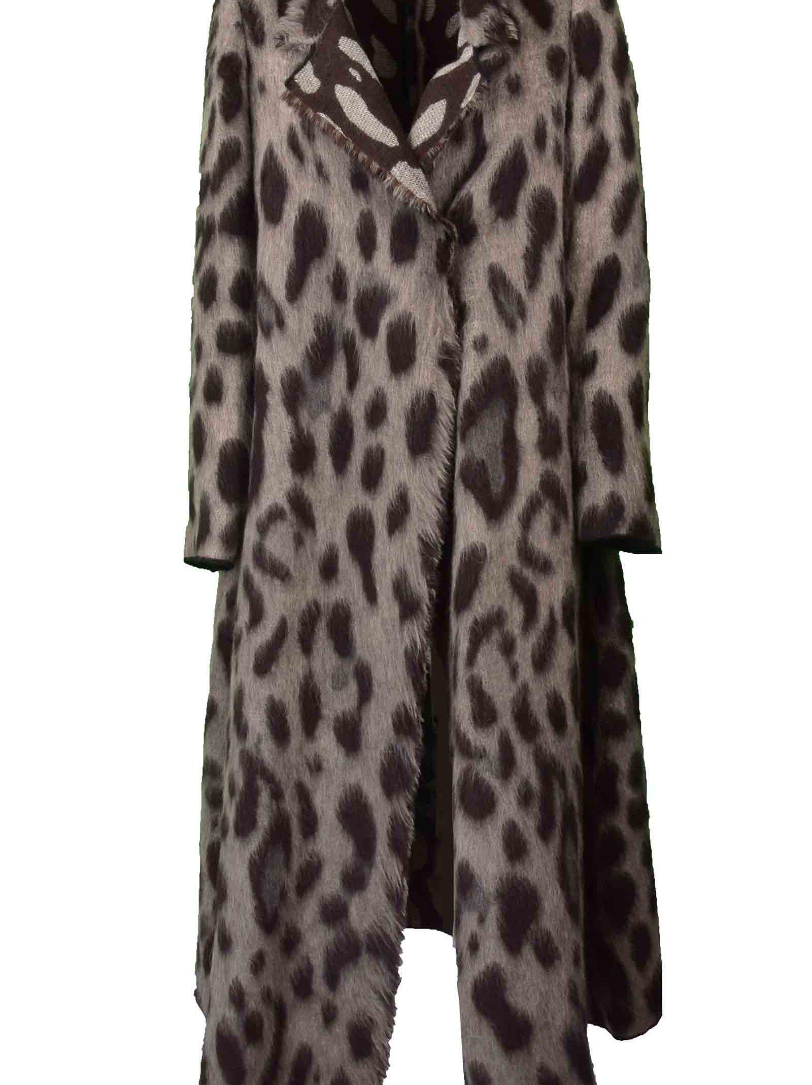 Forte Forte Coats Forte Forte Leopard Print Oversized Coat
