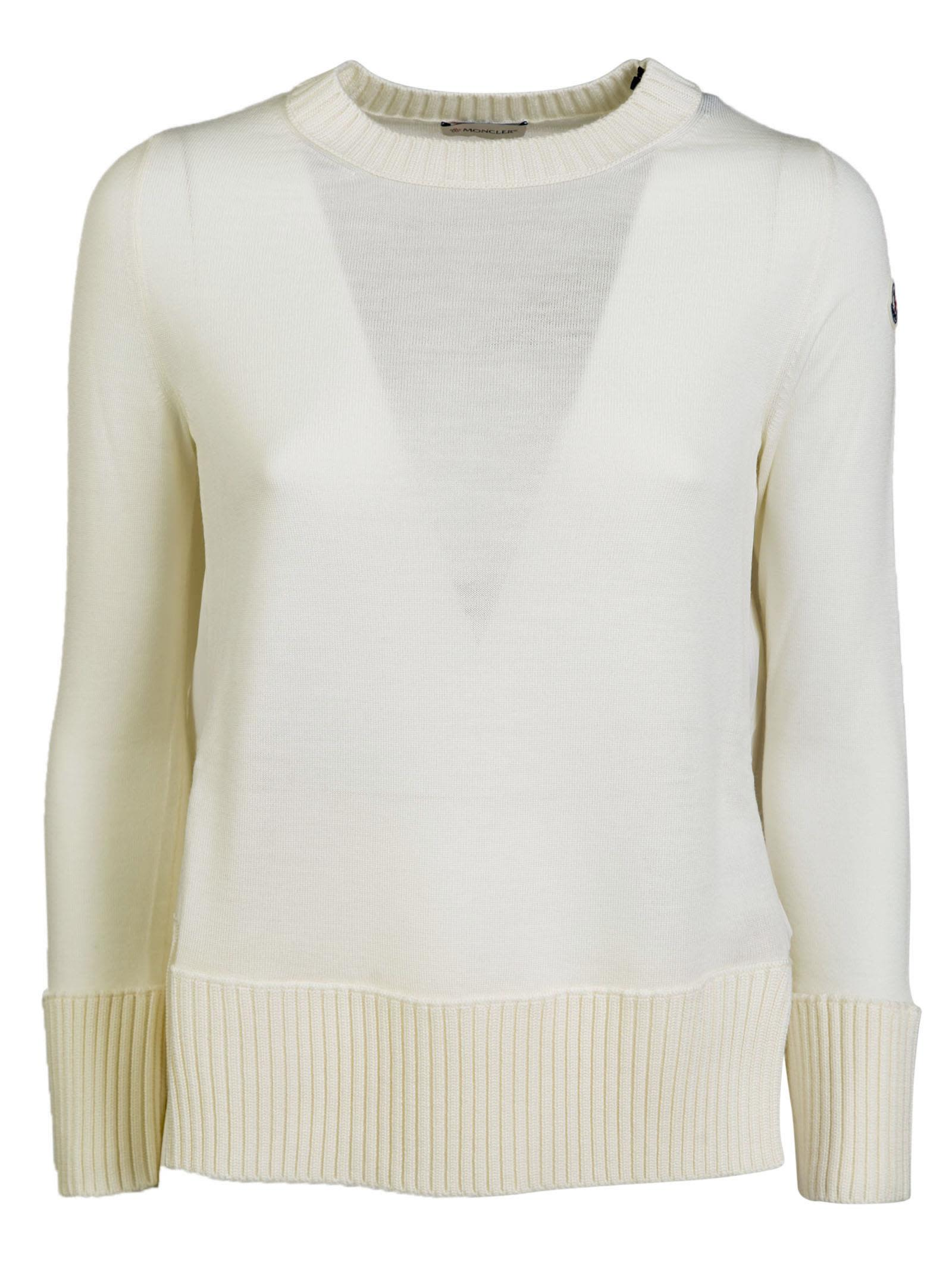 moncler white sweater