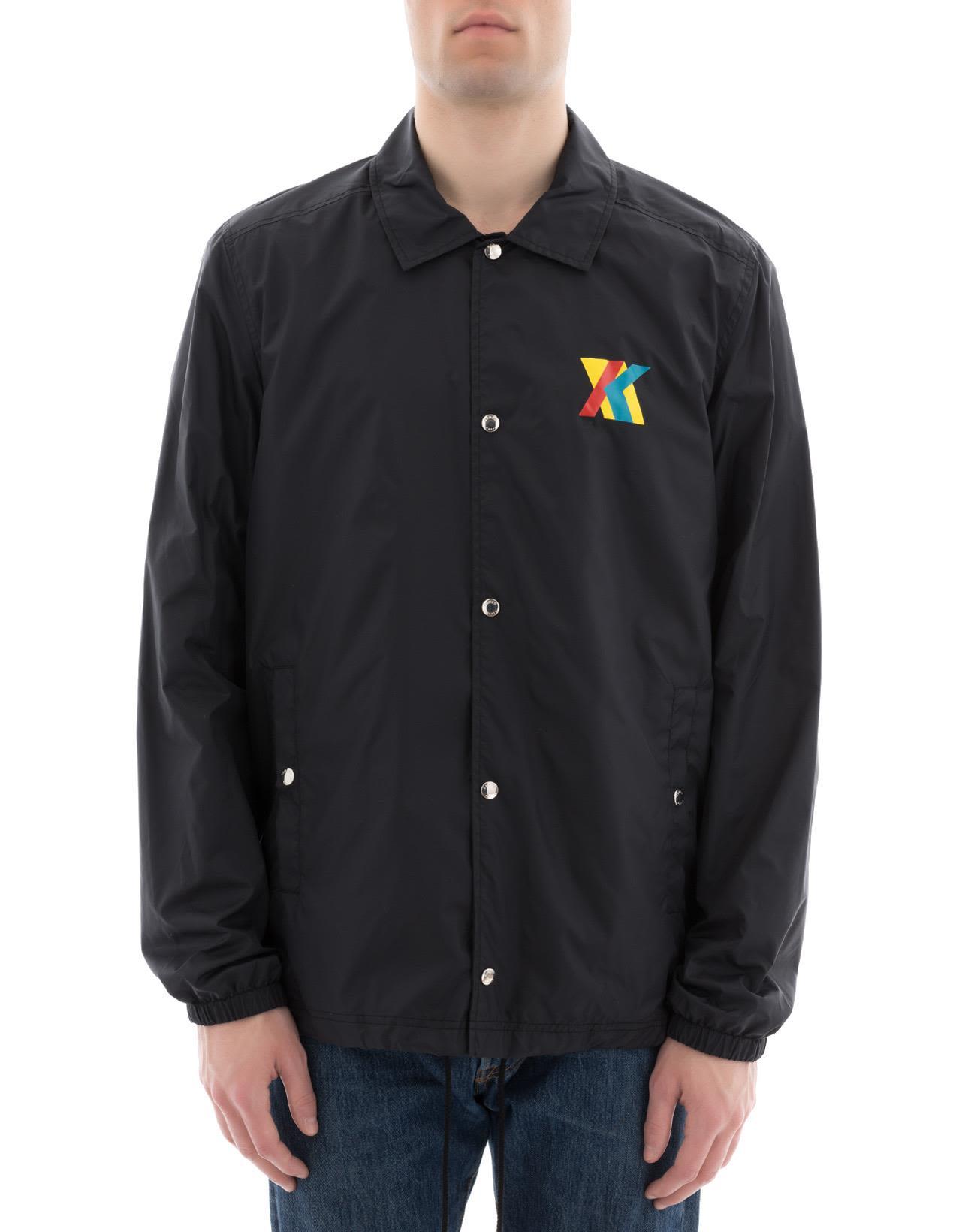 f0c11a78 Kenzo Hyper Black Nylon Coach Jacket | ModeSens