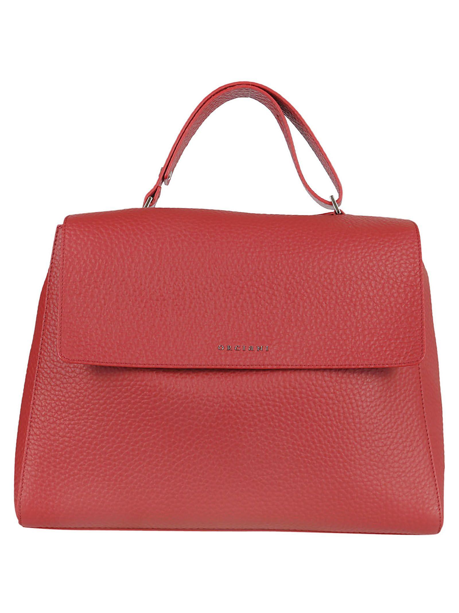 Top Handle Handbag On Sale, Orange, Leather, 2017, one size Orciani
