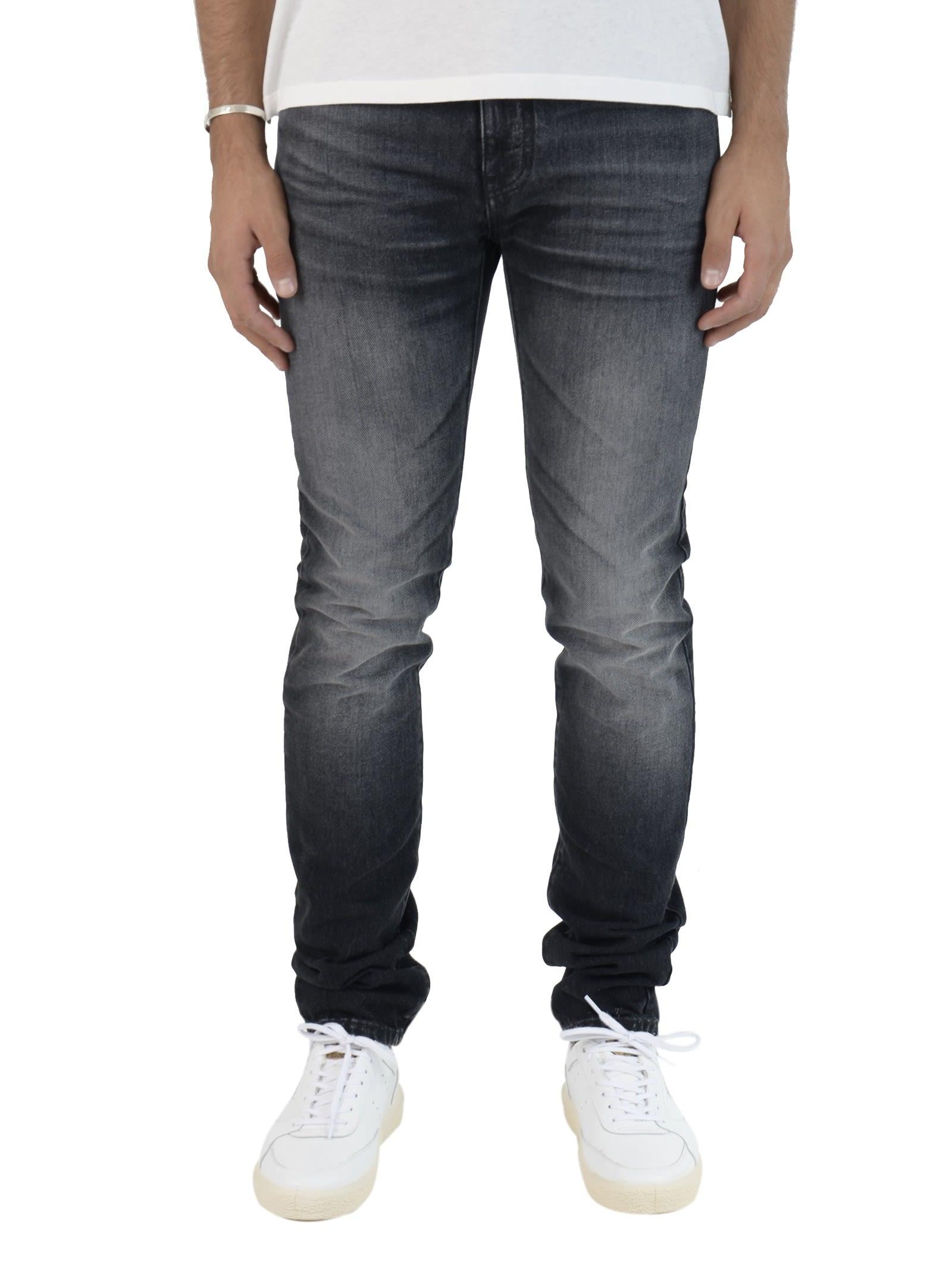 Saint Laurent Washed Black Jeans 9039133