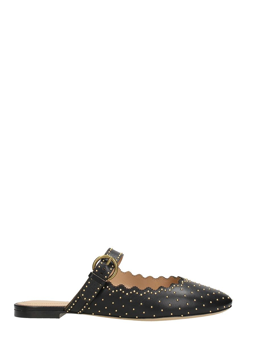 Cheap Price In China Chloé Lauren Studs Flat Mules Hot Sale Sale Online Sale Limited Edition Dm0DRp