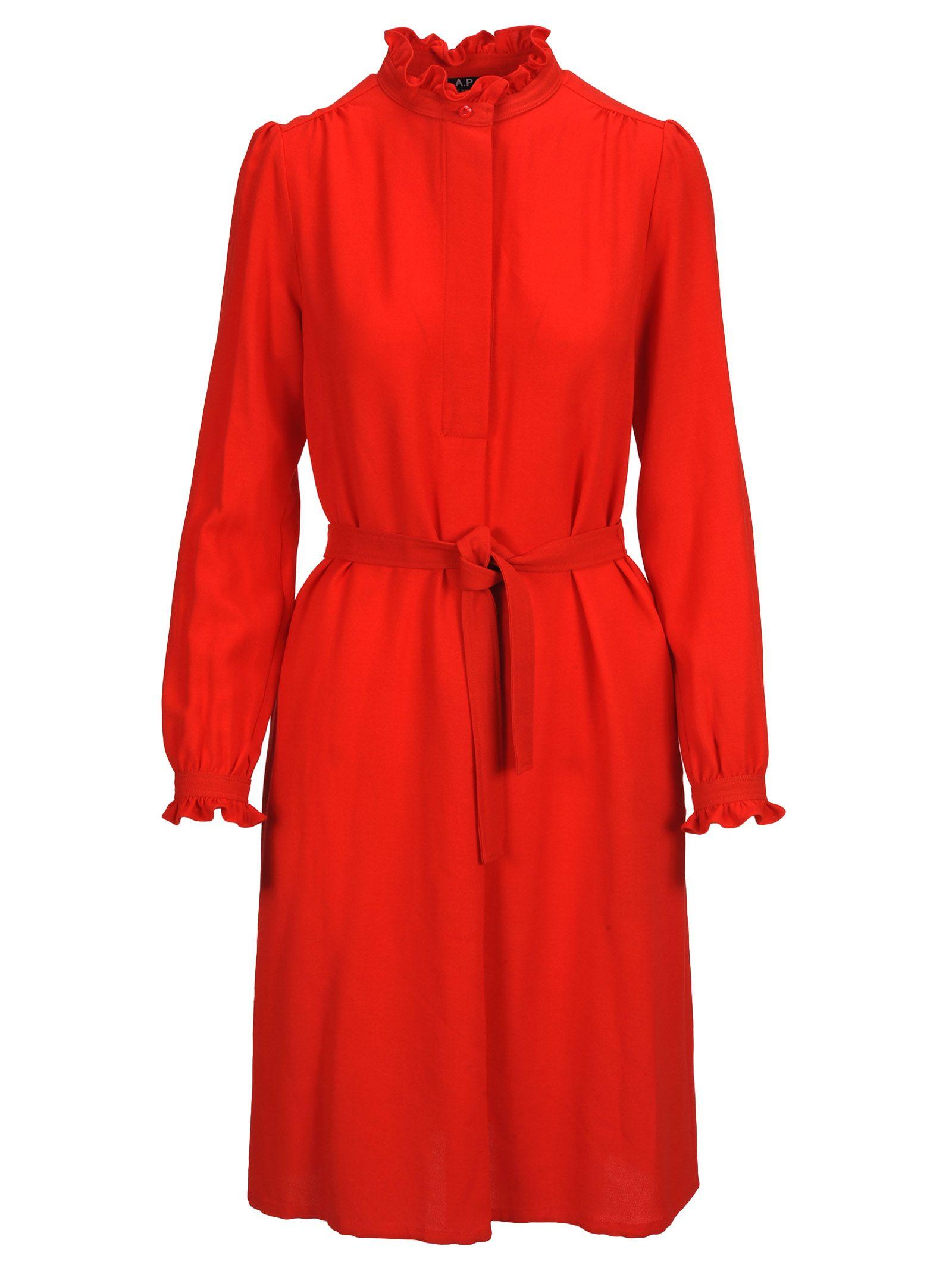 A.P.C. Dress Astor, Red