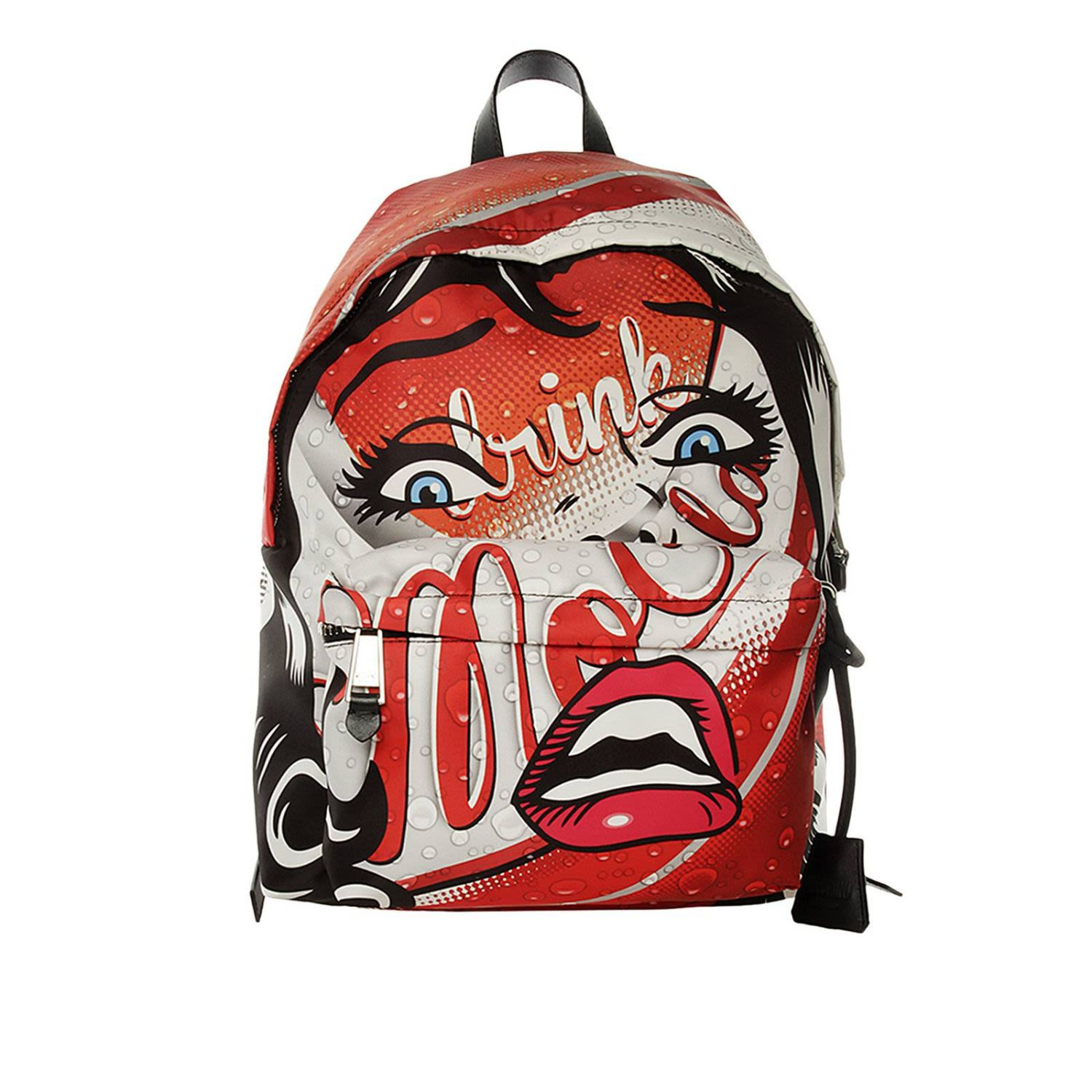moschino -  Couture Backpack Backpack eyes Capsule Collection In Cotton With  Drink Print
