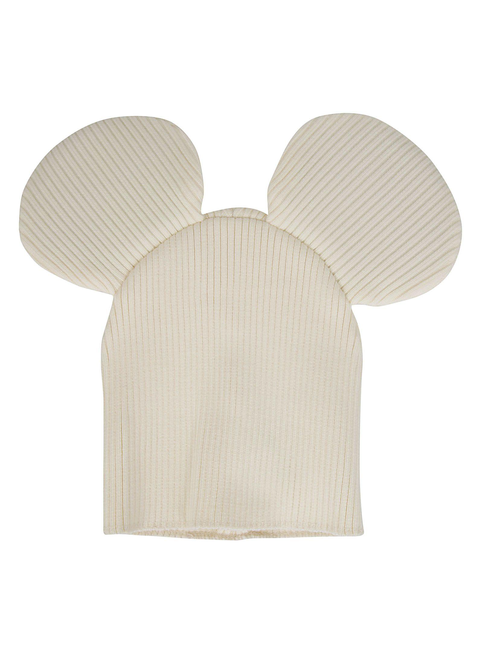 COMME DES GARÇONS BOYS Comme Des Garçons Boys Mouse Ears Beanie in Off White