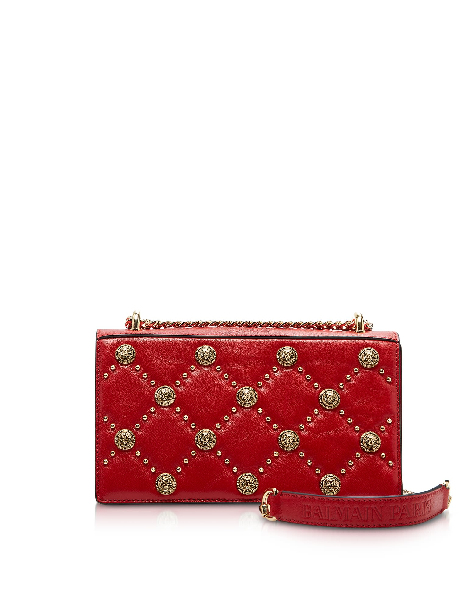 Red Love Lion Flap Shoulder Bag
