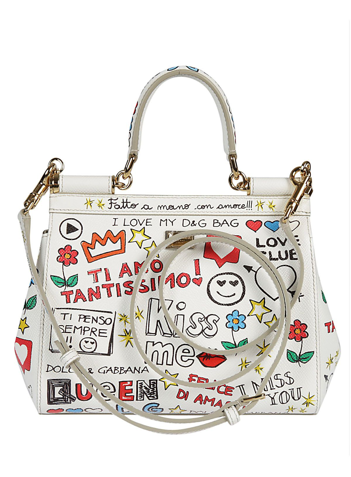 small Sicily mural print shoulder bag - White Dolce & Gabbana kMgVBO1sx