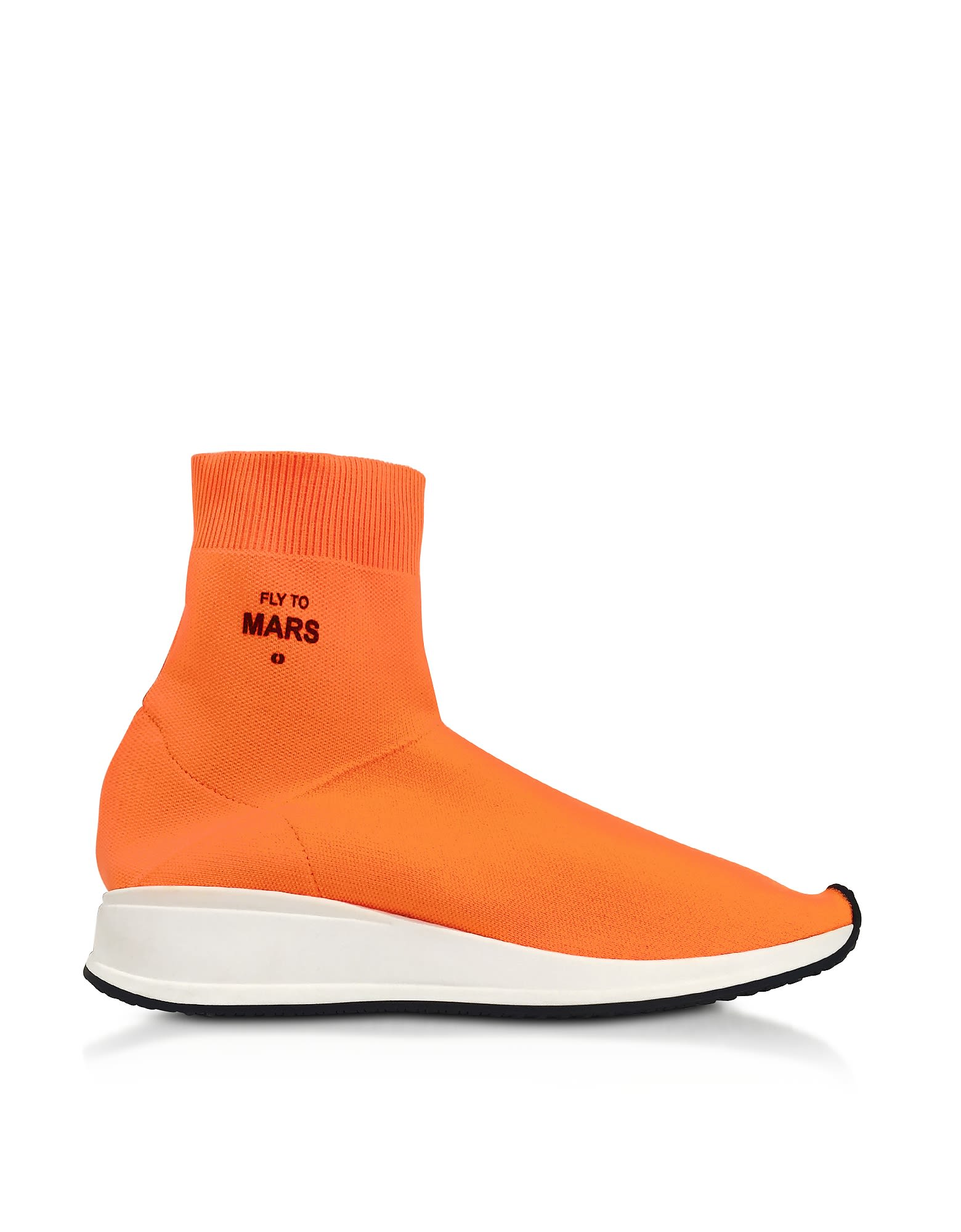 JOSHUA SANDERS Designer Shoes, Fly To Mars Neon Nylon Sock Sneakers